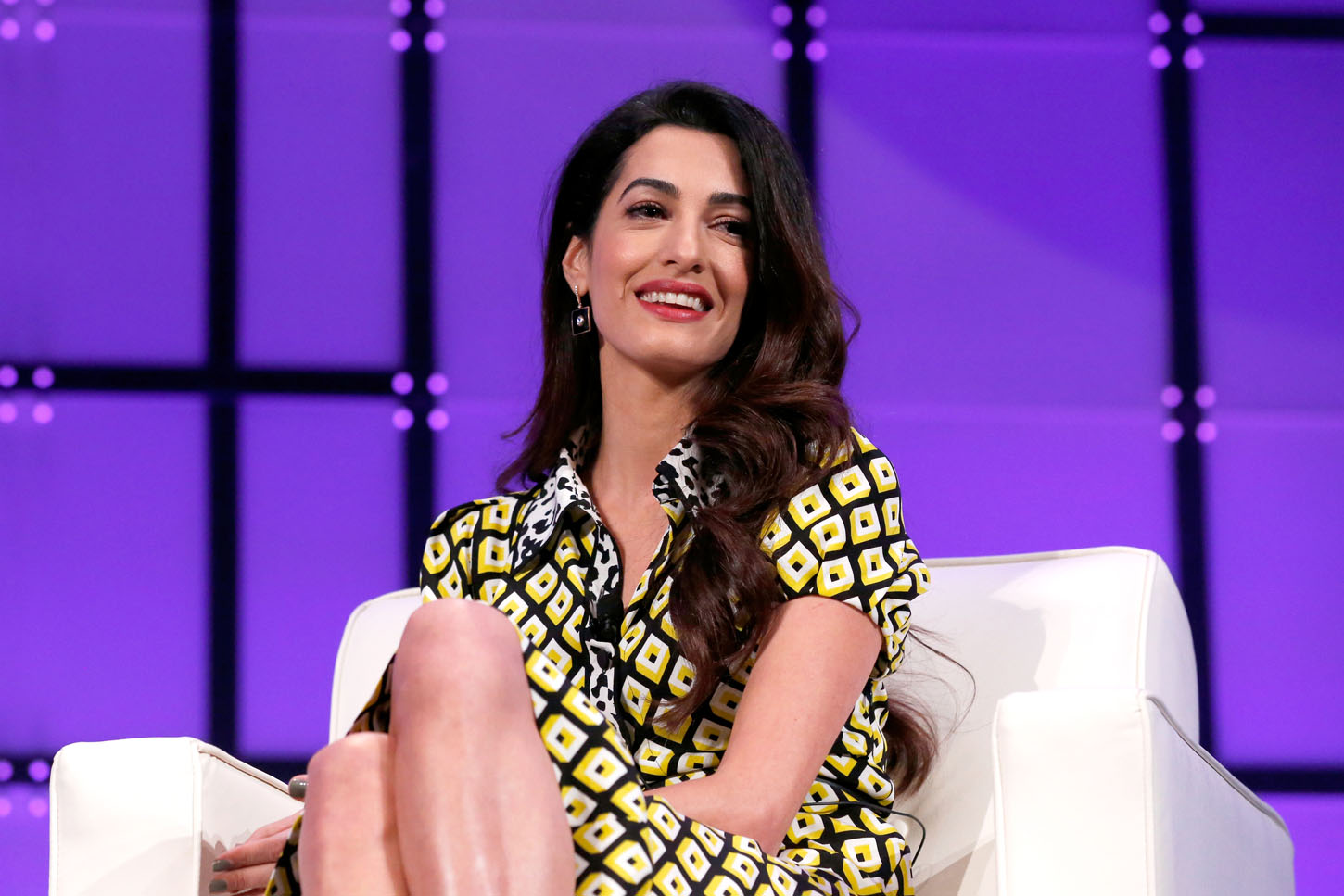 SAN JOSE, CA - FEBRUARY 23:  International human rights attorney Amal Clooney speaks onstage at the Watermark Conference for Women 2018 at San Jose Convention Center on February 23, 2018 in San Jose, California.  (Photo by Marla Aufmuth/Getty Images for Watermark Conference for Women 2018)