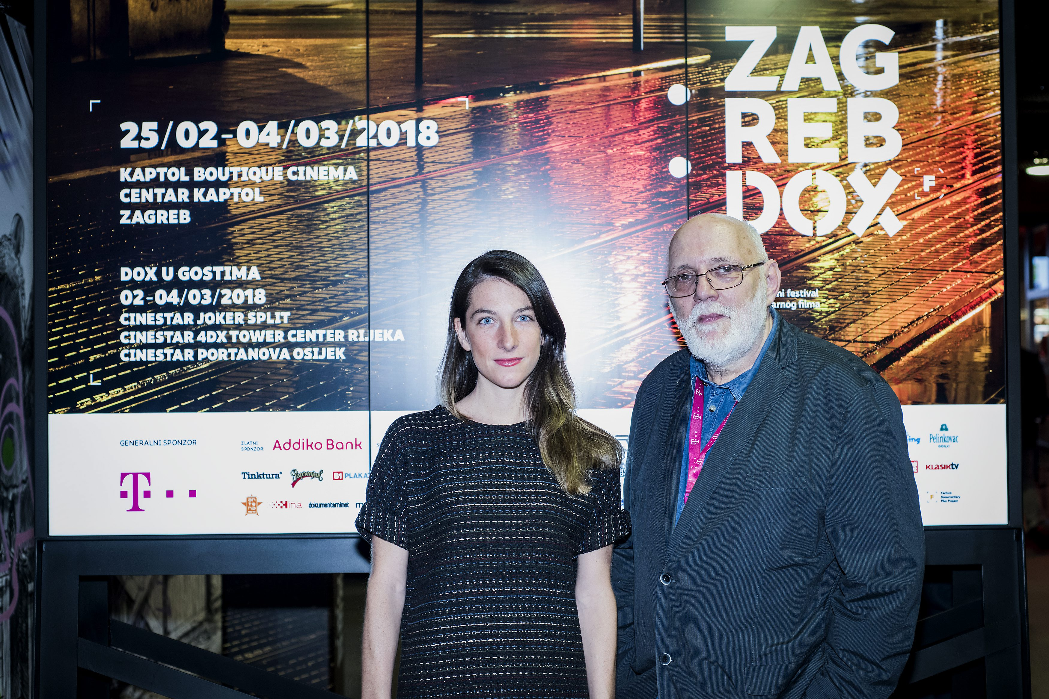 Zagreb, 250218.  Veceras je u Kaptol Bouttique Cinema otvoren 14. ZagrebDox, medjunarodni festival dokumentarnog filma. Na fotografiji: Nenad Puhovski. Foto: Neja Markicevic / CROPIX