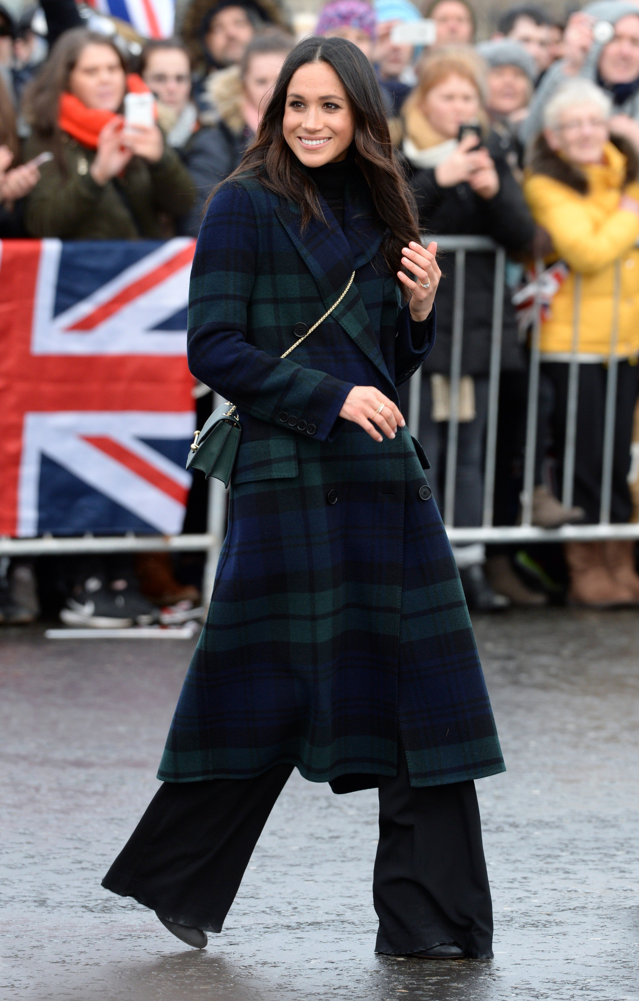 Meghan Markle during a walkabout on the esplanade at Edinburgh Castle, during their visit to Scotland., Image: 363159377, License: Rights-managed, Restrictions: , Model Release: no, Credit line: Profimedia, Press Association