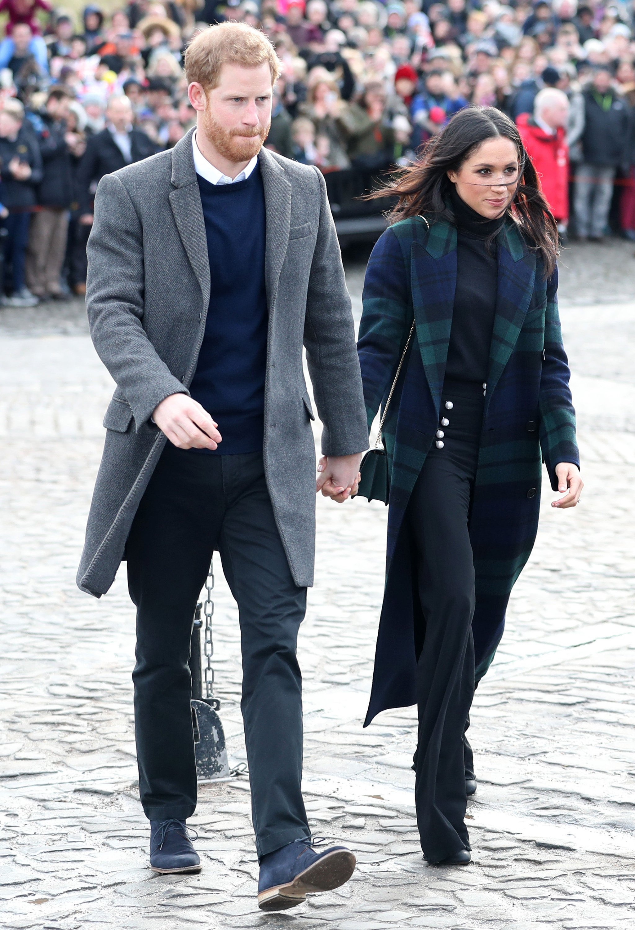 Prince Harry and Meghan Markle visit Edinburgh Castle, Edinburgh, UK, on the 13th February 2018.  Picture by Jane Barlow/WPA-Pool. 13 Feb 2018 Pictured: Prince Harry, Meghan Markle., Image: 363190221, License: Rights-managed, Restrictions: NO United Kingdom, Model Release: no, Credit line: Profimedia, Mega Agency
