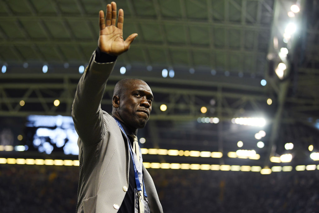 CARDIFF, WALES - JUNE 03: Clarence Seedorf waves to fans inside the stadium prior to the UEFA Champions League Final between Juventus and Real Madrid at National Stadium of Wales on June 3, 2017 in Cardiff, Wales.  (Photo by Laurence Griffiths/Getty Images)
