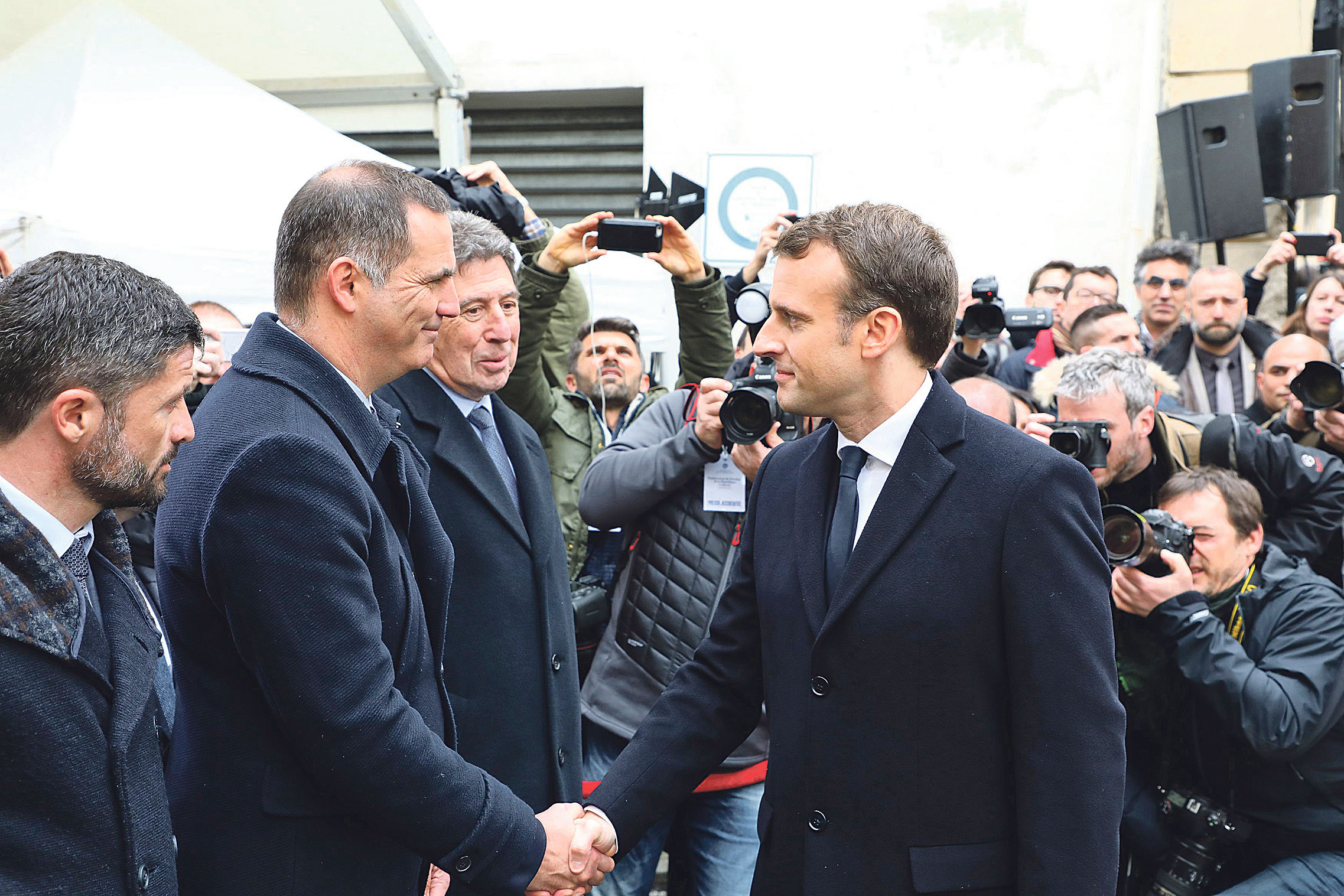 Gilles Simeoni i Emmanuel Macron