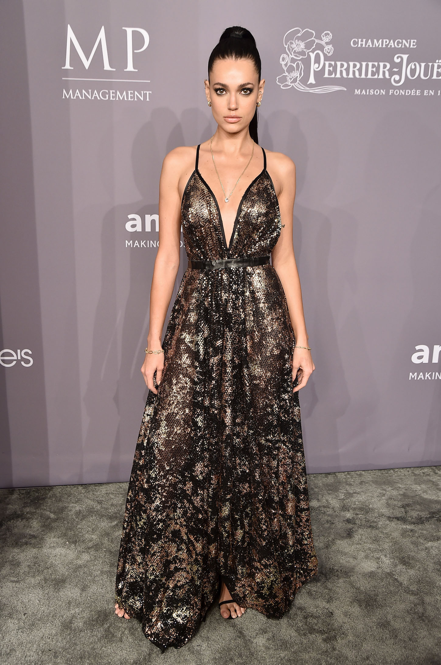 NEW YORK, NY - FEBRUARY 07:  Model Marianne Fonseca attends the 2018 amfAR Gala New York at Cipriani Wall Street on February 7, 2018 in New York City.  (Photo by Theo Wargo/Getty Images)