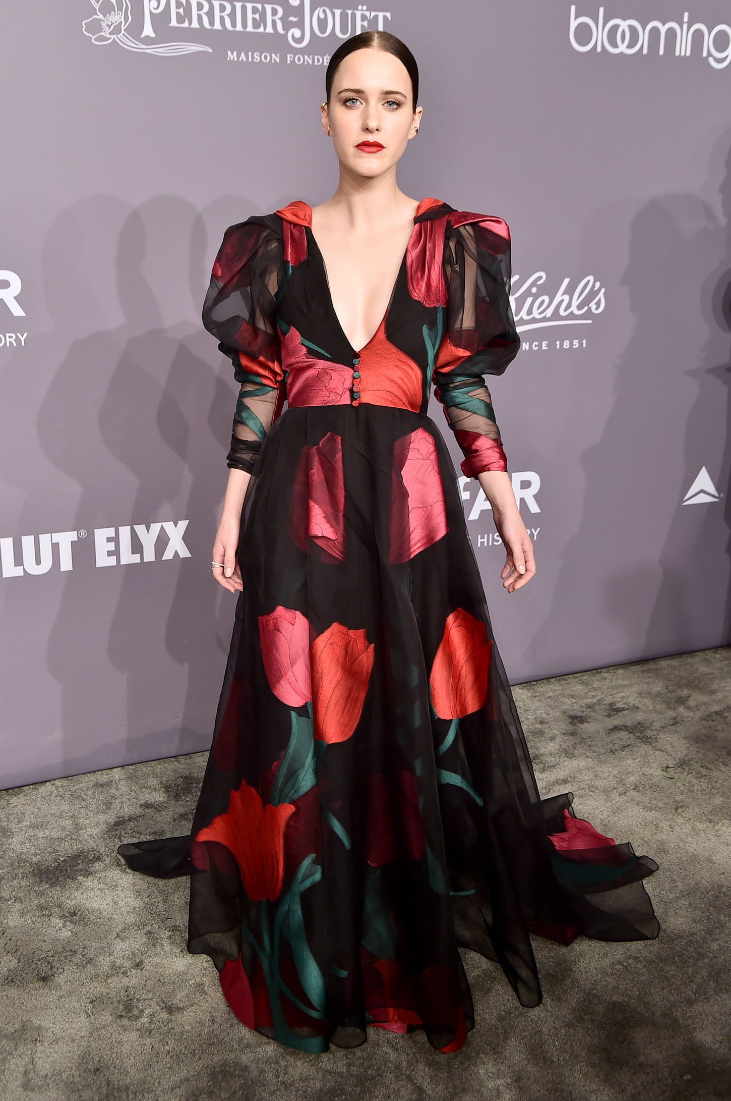 NEW YORK, NY - FEBRUARY 07:  Actor Rachel Brosnahan attends the 2018 amfAR Gala New York at Cipriani Wall Street on February 7, 2018 in New York City.  (Photo by Theo Wargo/Getty Images)