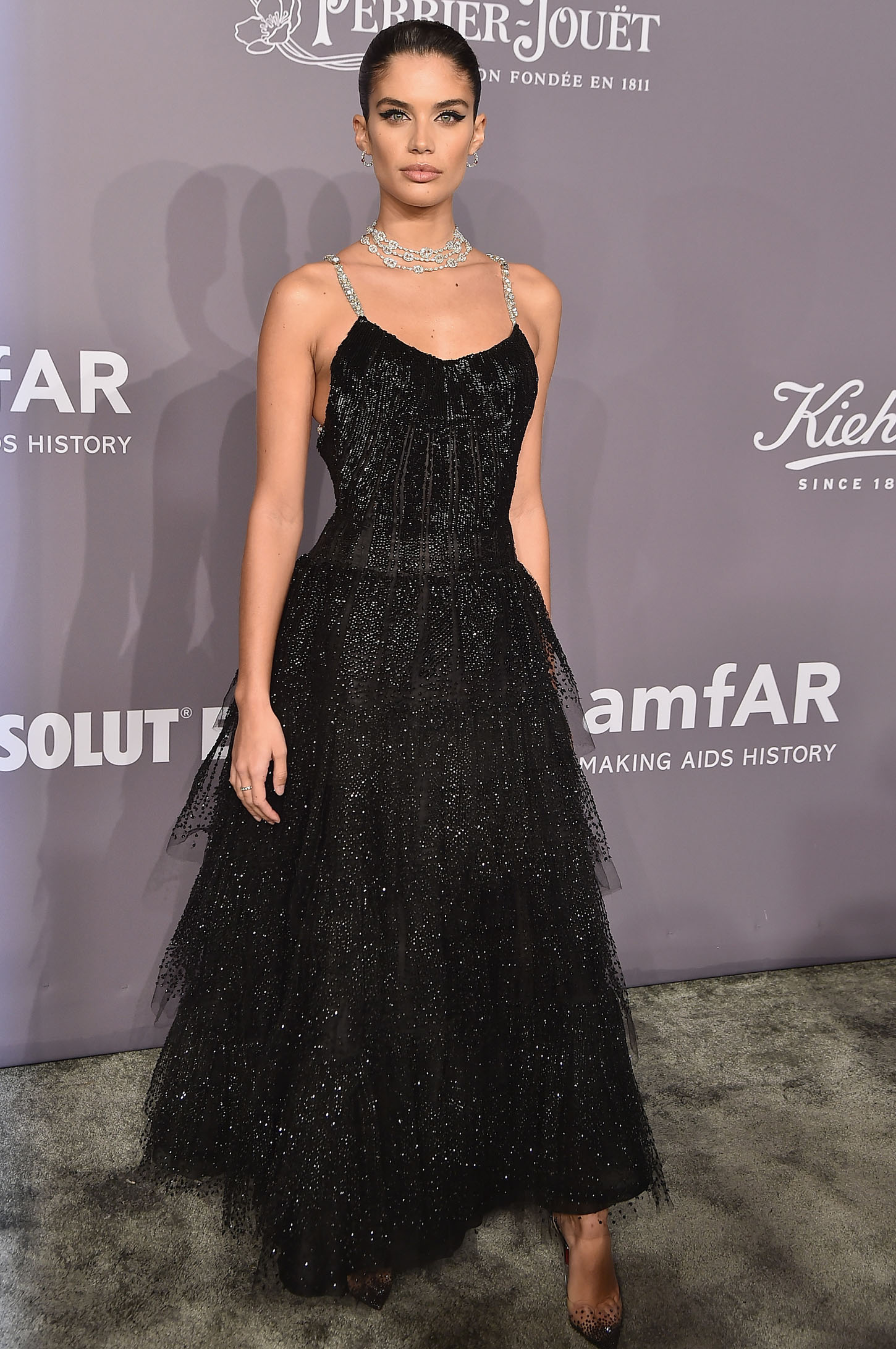 NEW YORK, NY - FEBRUARY 07:  Model Sara Sampaio attends the 2018 amfAR Gala New York at Cipriani Wall Street on February 7, 2018 in New York City.  (Photo by Theo Wargo/Getty Images)