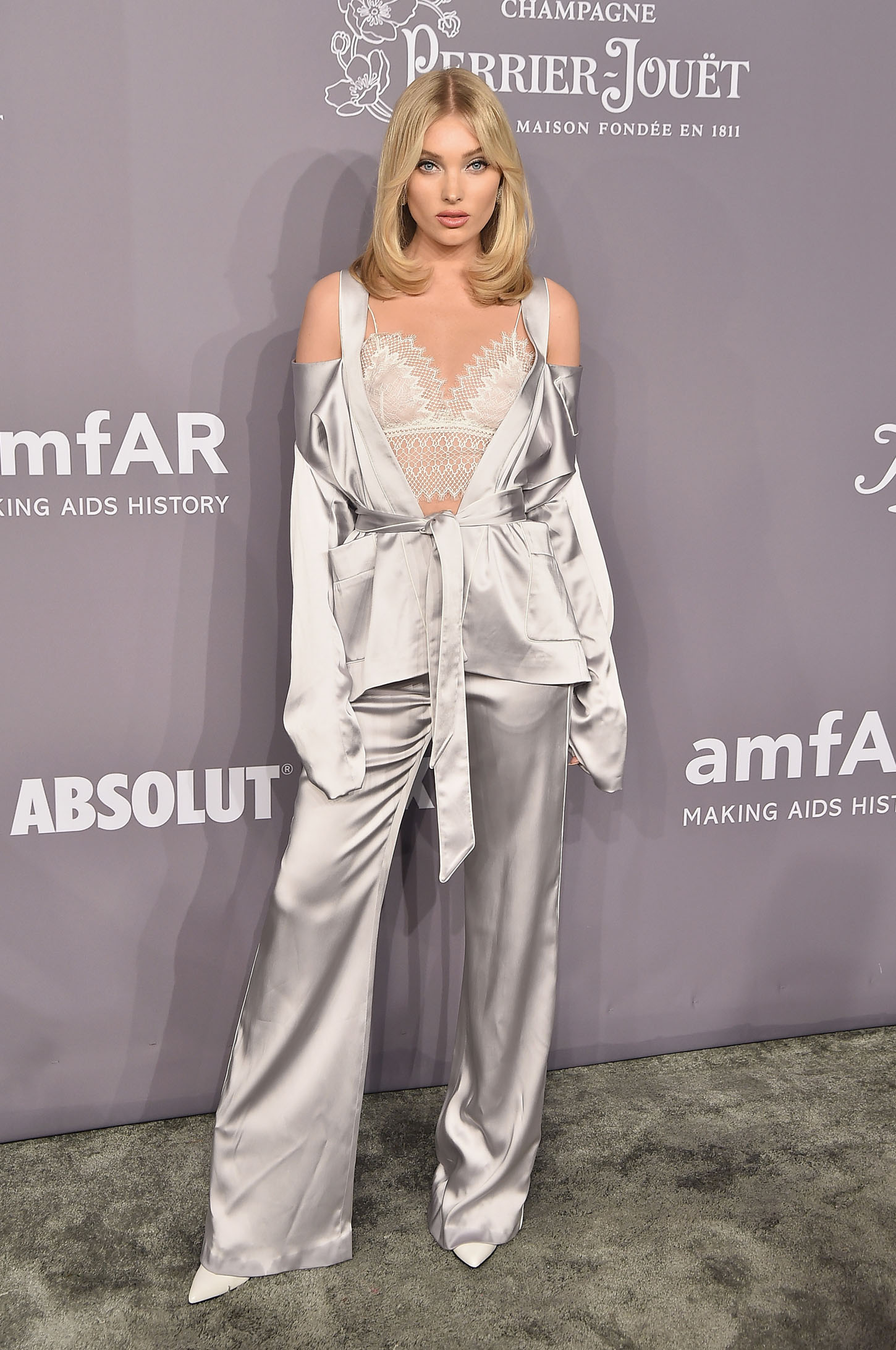 NEW YORK, NY - FEBRUARY 07:  Model Elsa Hosk attends the 2018 amfAR Gala New York at Cipriani Wall Street on February 7, 2018 in New York City.  (Photo by Theo Wargo/Getty Images)