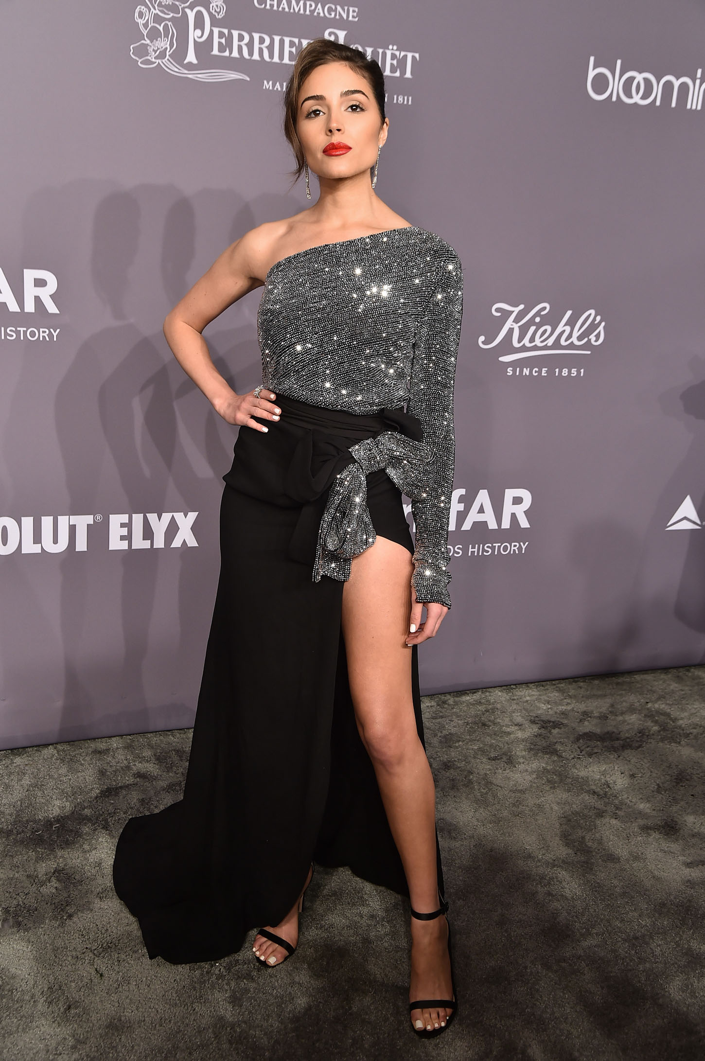 NEW YORK, NY - FEBRUARY 07:  Model Olivia Culpo attends the 2018 amfAR Gala New York at Cipriani Wall Street on February 7, 2018 in New York City.  (Photo by Theo Wargo/Getty Images)