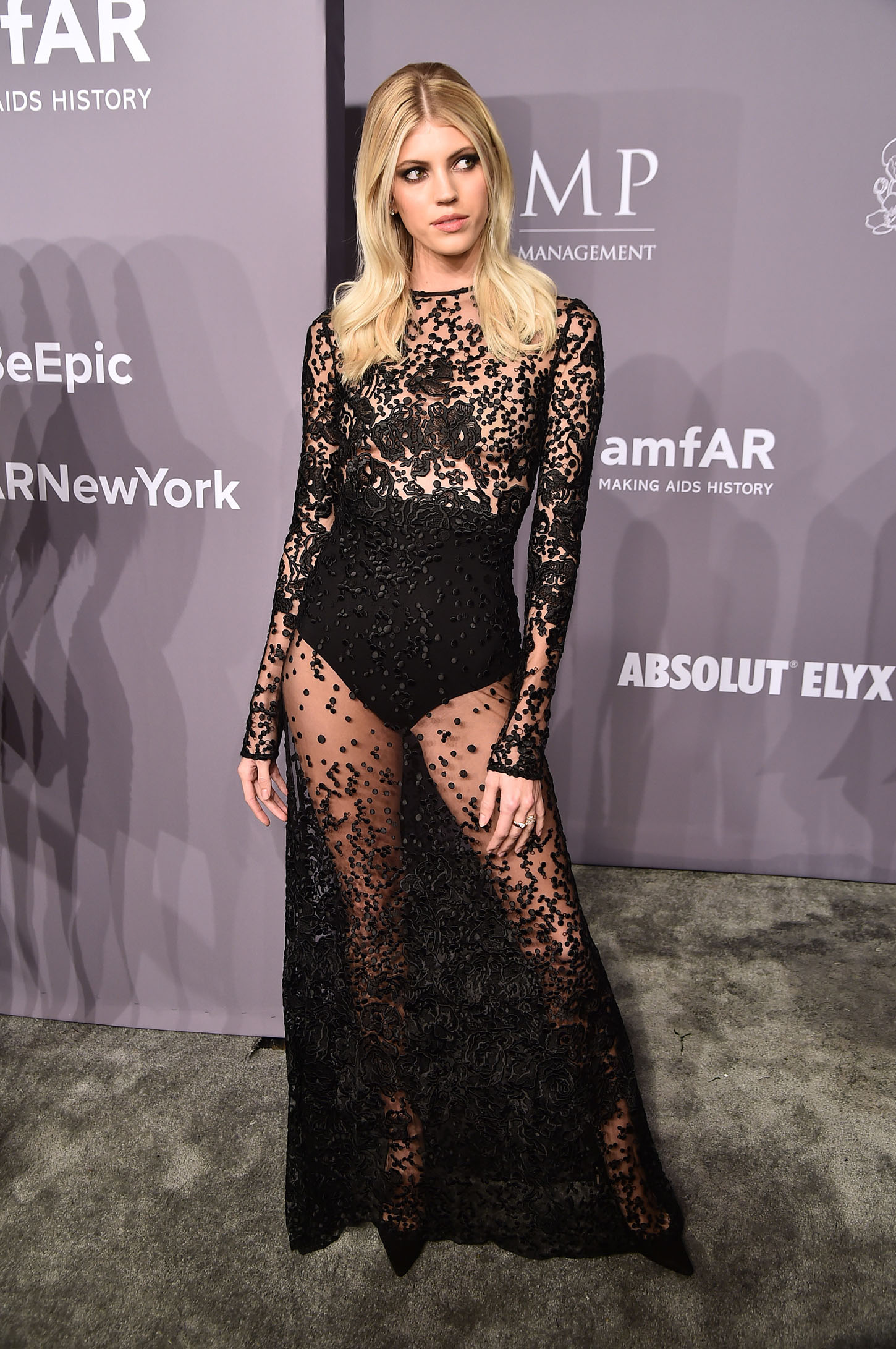 NEW YORK, NY - FEBRUARY 07:  Model Devon Windsor attends the 2018 amfAR Gala New York at Cipriani Wall Street on February 7, 2018 in New York City.  (Photo by Theo Wargo/Getty Images)