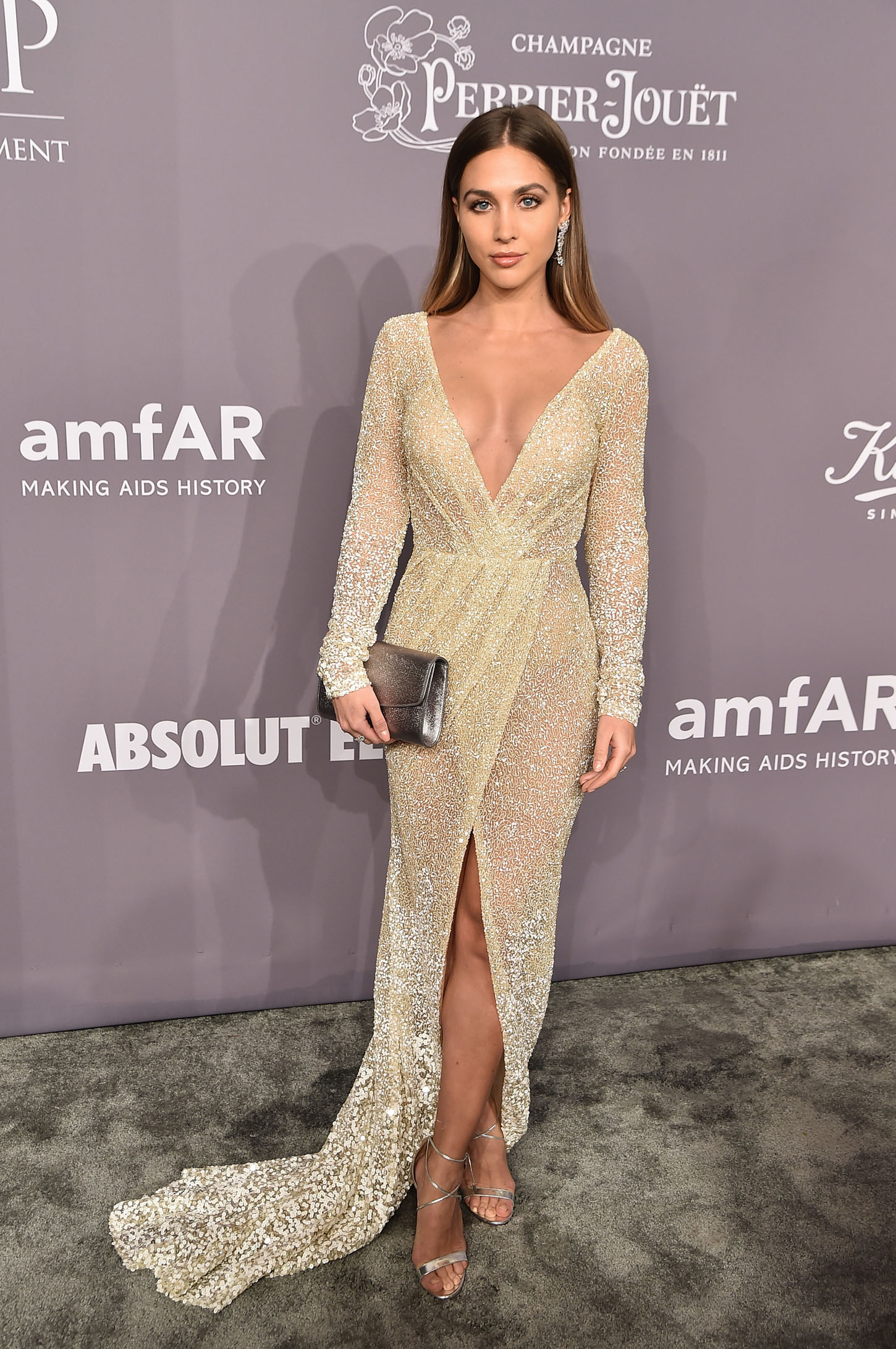 NEW YORK, NY - FEBRUARY 07:  Model Ann-Kathrin Vida attends the 2018 amfAR Gala New York at Cipriani Wall Street on February 7, 2018 in New York City.  (Photo by Theo Wargo/Getty Images)