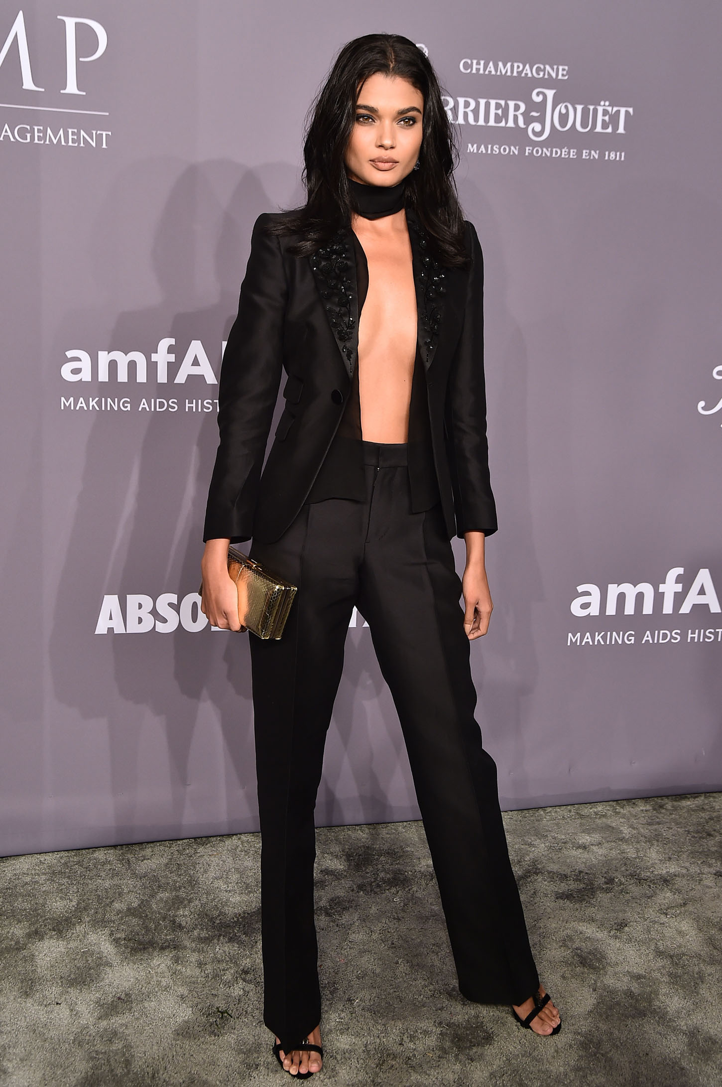 NEW YORK, NY - FEBRUARY 07:  Model Daniela Braga attends the 2018 amfAR Gala New York at Cipriani Wall Street on February 7, 2018 in New York City.  (Photo by Theo Wargo/Getty Images)