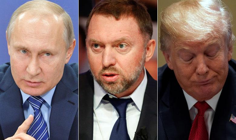 Vladimir Putin, Oleg Deripaska i Donald Trump
