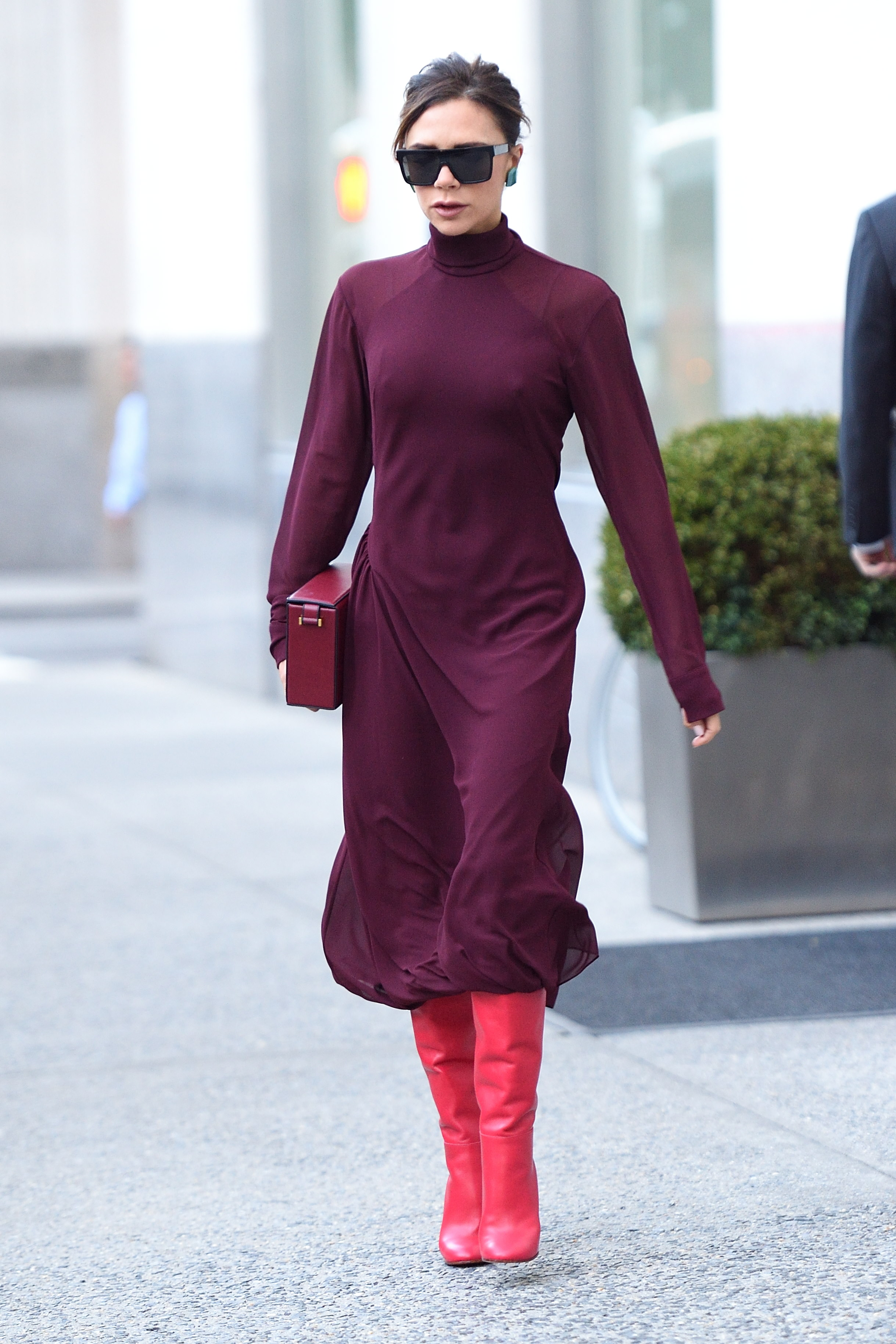 Victoria Beckham leaves her hotel in NYC. <P> Pictured: Victoria Beckham <B>Ref: SPL1601105  131017  </B><BR/> Picture by: Ron Asadorian / Splash News<BR/> </P><P> <B>Splash News and Pictures</B><BR/> Los Angeles:310-821-2666<BR/> New York:212-619-2666<BR/> London:870-934-2666<BR/> <span id=