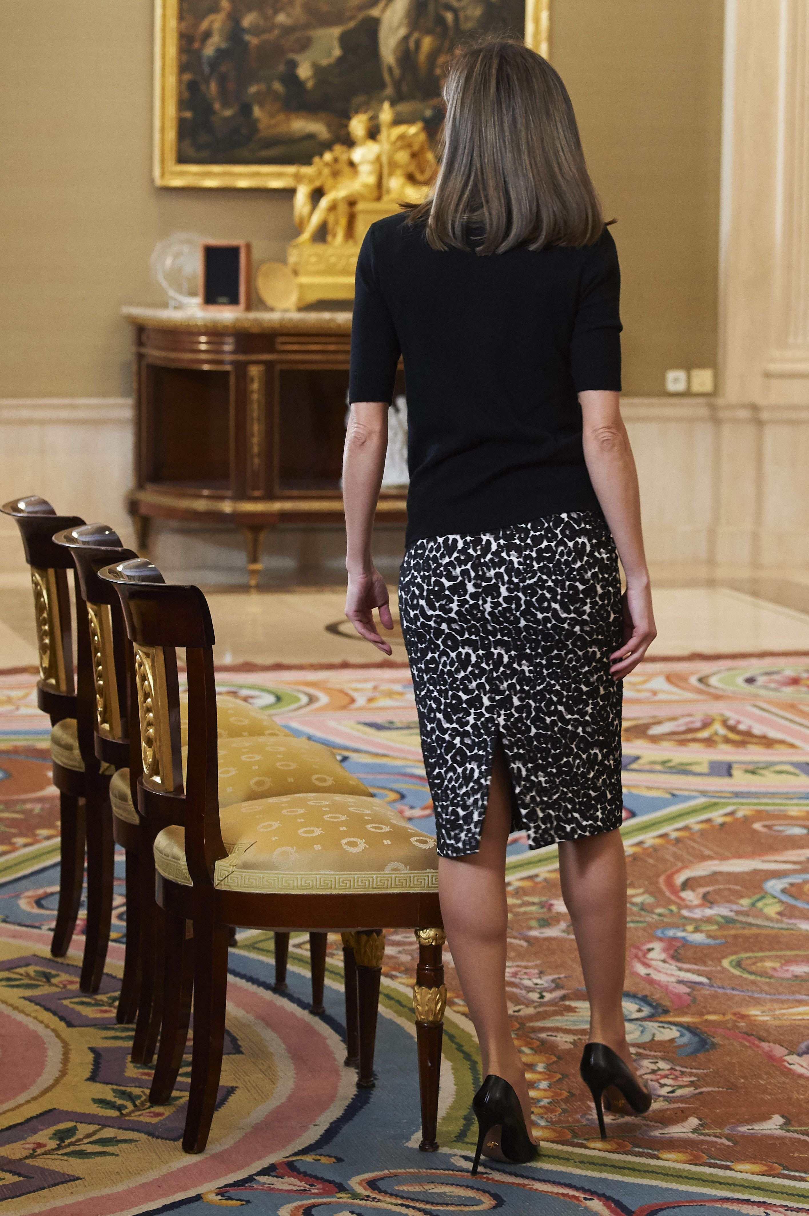 09-02-2018 Prieto Queen Letizia during 28th edition of the Tomas Francisco Prieto prize at Zarzuela palace in Madrid. The prize was awarded to Mrs. Victoria Civera.  No Spain  ' PPE/Thorton //THORTON-PPE_1302.8293/Credit:PPE/THORTON/SIPA/1802091819, Image: 362790152, License: Rights-managed, Restrictions: , Model Release: no, Credit line: Profimedia, TEMP Sipa Press