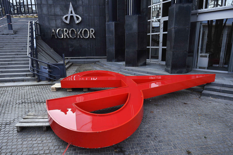 Skidanje Agrokorovog znaka s Ciboninog tornja