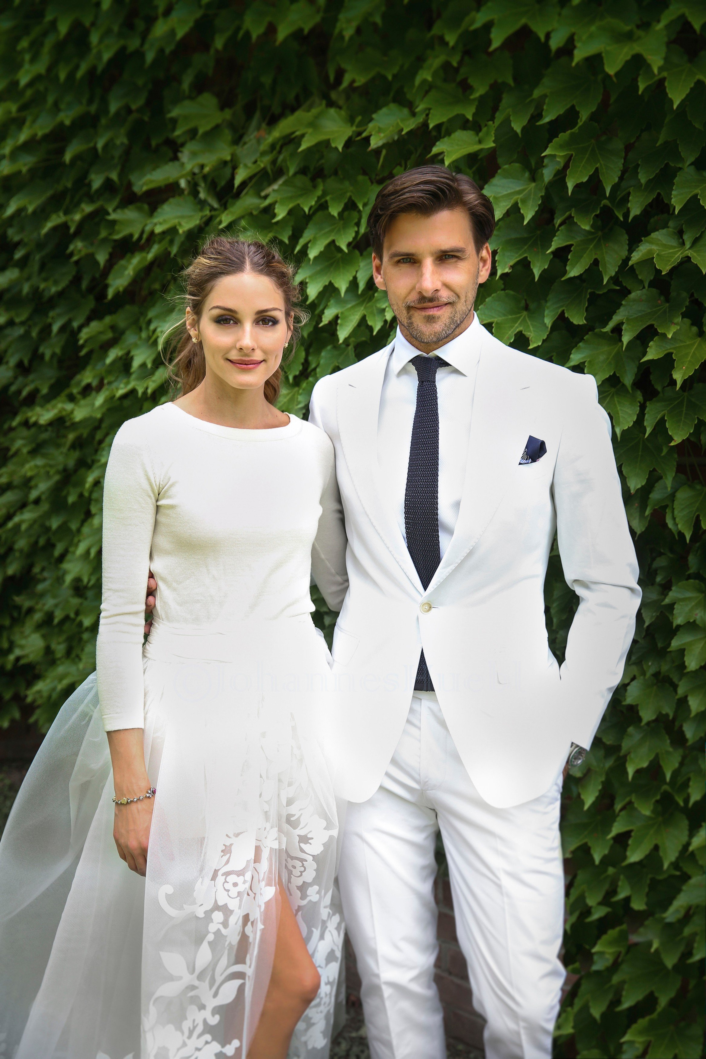 Just married! Olivia Palermo makes a beautiful bride as she weds Johannes Huebl in intimate civil ceremony. Olivia Palermo has married Johannes Huebl after six and a half years of dating. A week after it was alleged they'd had a secret wedding, the happy couple saidI doin an intimate civil ceremony with just a few guests. The wedding took place on Saturday in Bedford, New York and Olivia could not have made a more beautiful bride. Olivia poste these 2 pictures, Image: 197729906, License: Rights-managed, Restrictions: Photo supplied by insight media. For editorial use only. Single rate handling fee applies., Model Release: no, Credit line: Profimedia, Insight Media