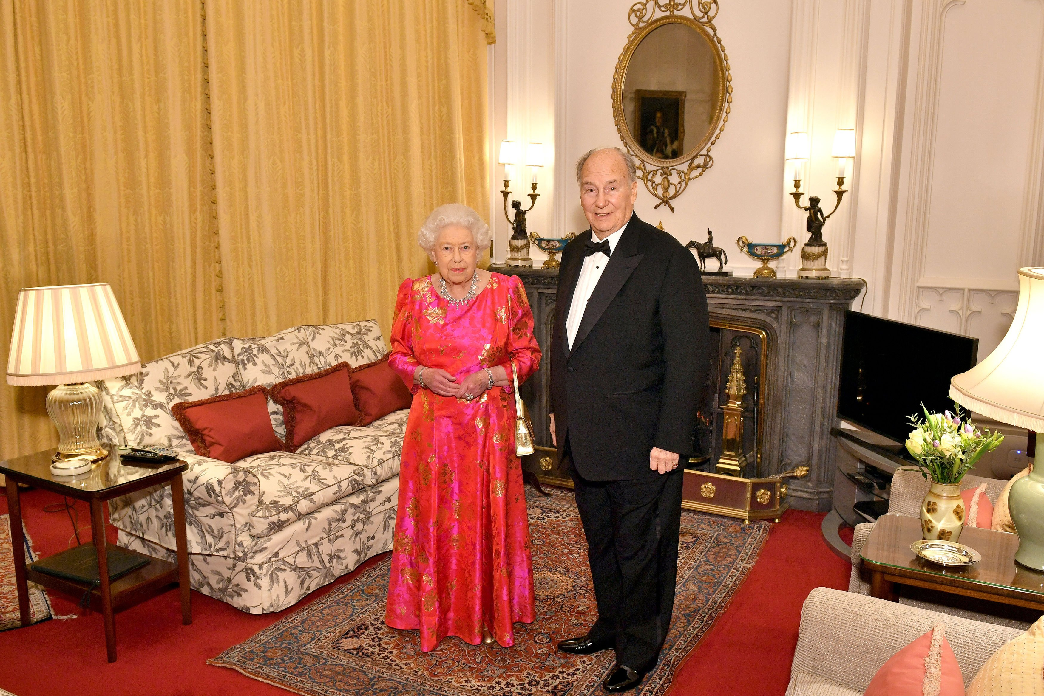 The Queen Elizabeth II and the Aga Khan in the Oak Room at Windsor Castle before she hosts a private dinner in honour of the diamond jubilee of his leadership as Imam of the Shia Ismaili Muslim Community., Image: 365524198, License: Rights-managed, Restrictions: , Model Release: no, Credit line: Profimedia, Press Association