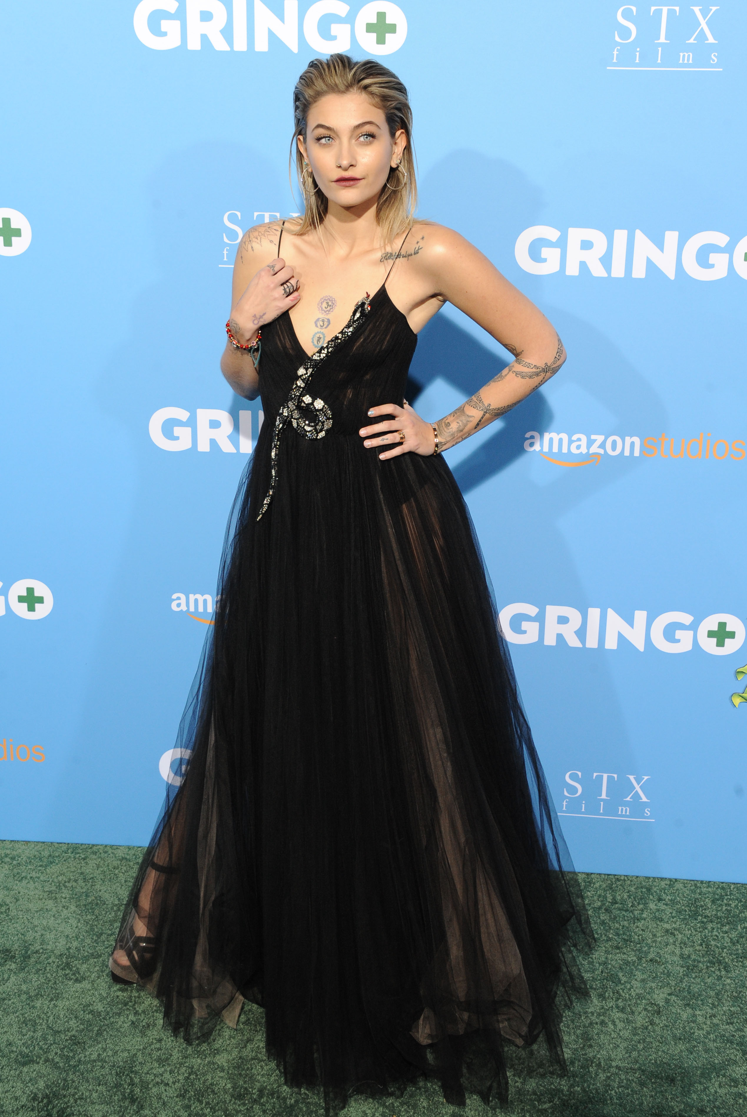 The Los Angeles Premiere of ''Gringo'' <P> Pictured: Paris Jackson <B>Ref: SPL1668724  070318  </B><BR/> Picture by: Zuma / Splash News<BR/> </P><P> <B>Splash News and Pictures</B><BR/> Los Angeles:310-821-2666<BR/> New York:212-619-2666<BR/> London:870-934-2666<BR/> <span id=