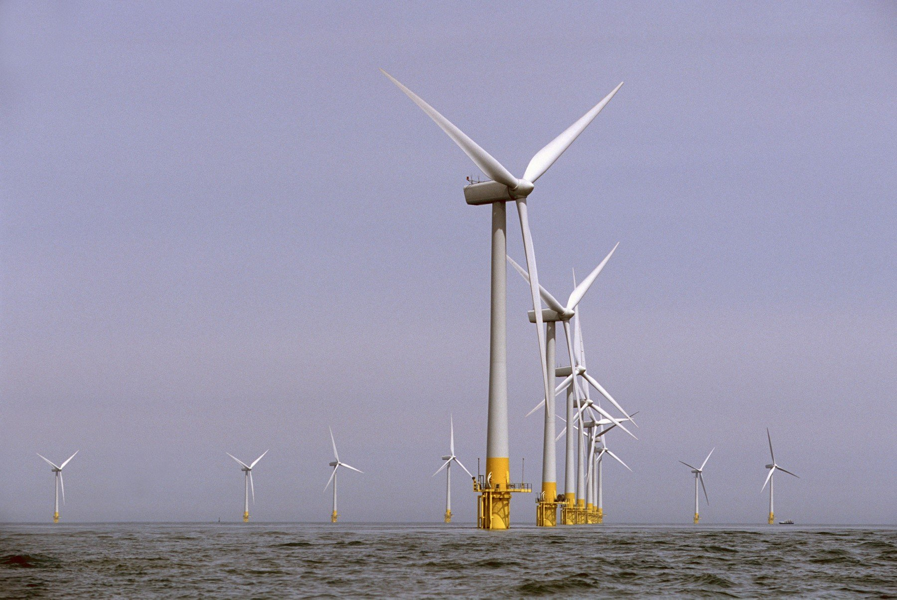 Vjetroelektrane Scroby Sands pokraj obale Velike Britanije čiji je vlasnik tvrtka E.on