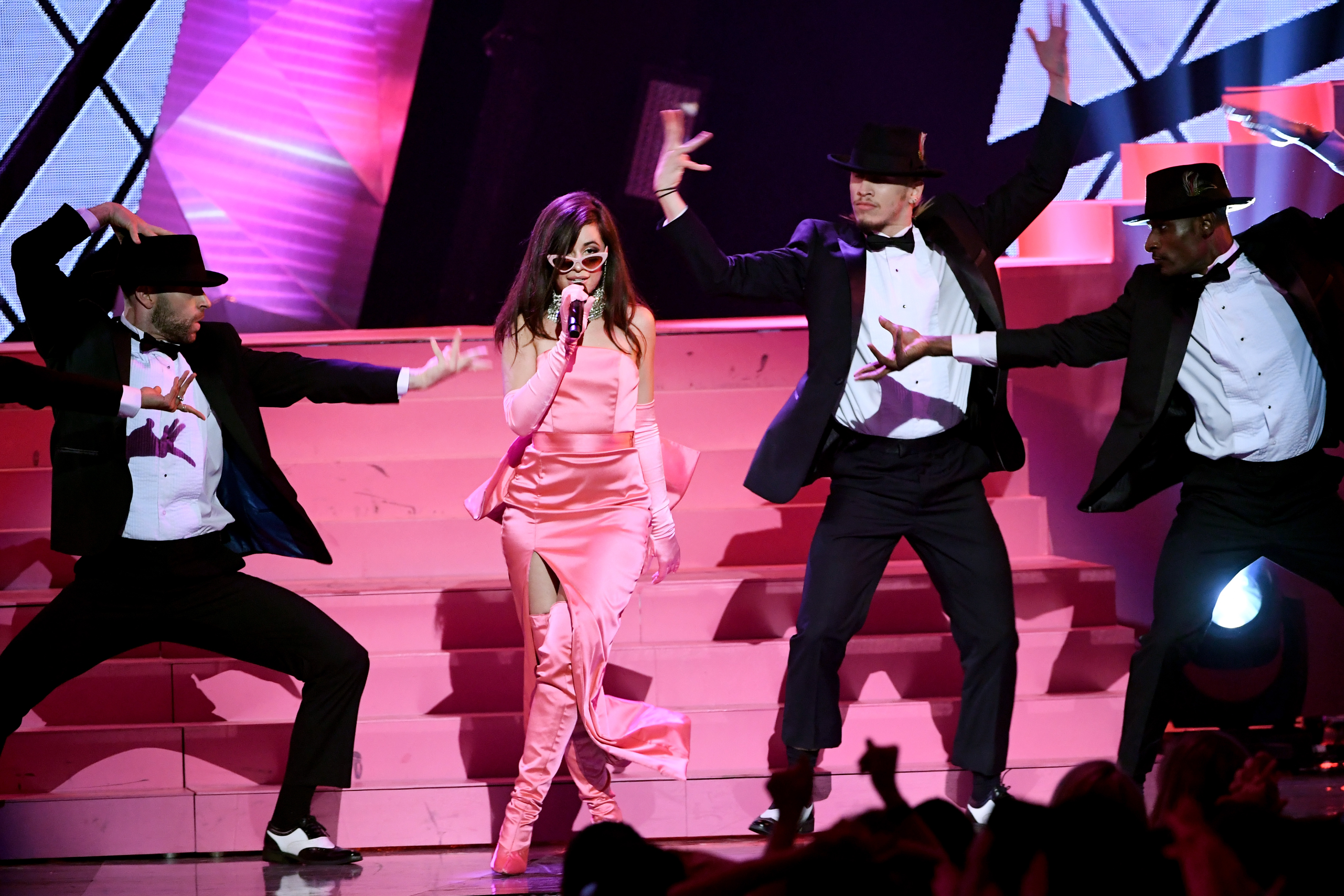 INGLEWOOD, CA - MARCH 11:  Camila Cabello performs onstage during the 2018 iHeartRadio Music Awards which broadcasted live on TBS, TNT, and truTV at The Forum on March 11, 2018 in Inglewood, California.  (Photo by Kevin Winter/Getty Images for iHeartMedia)