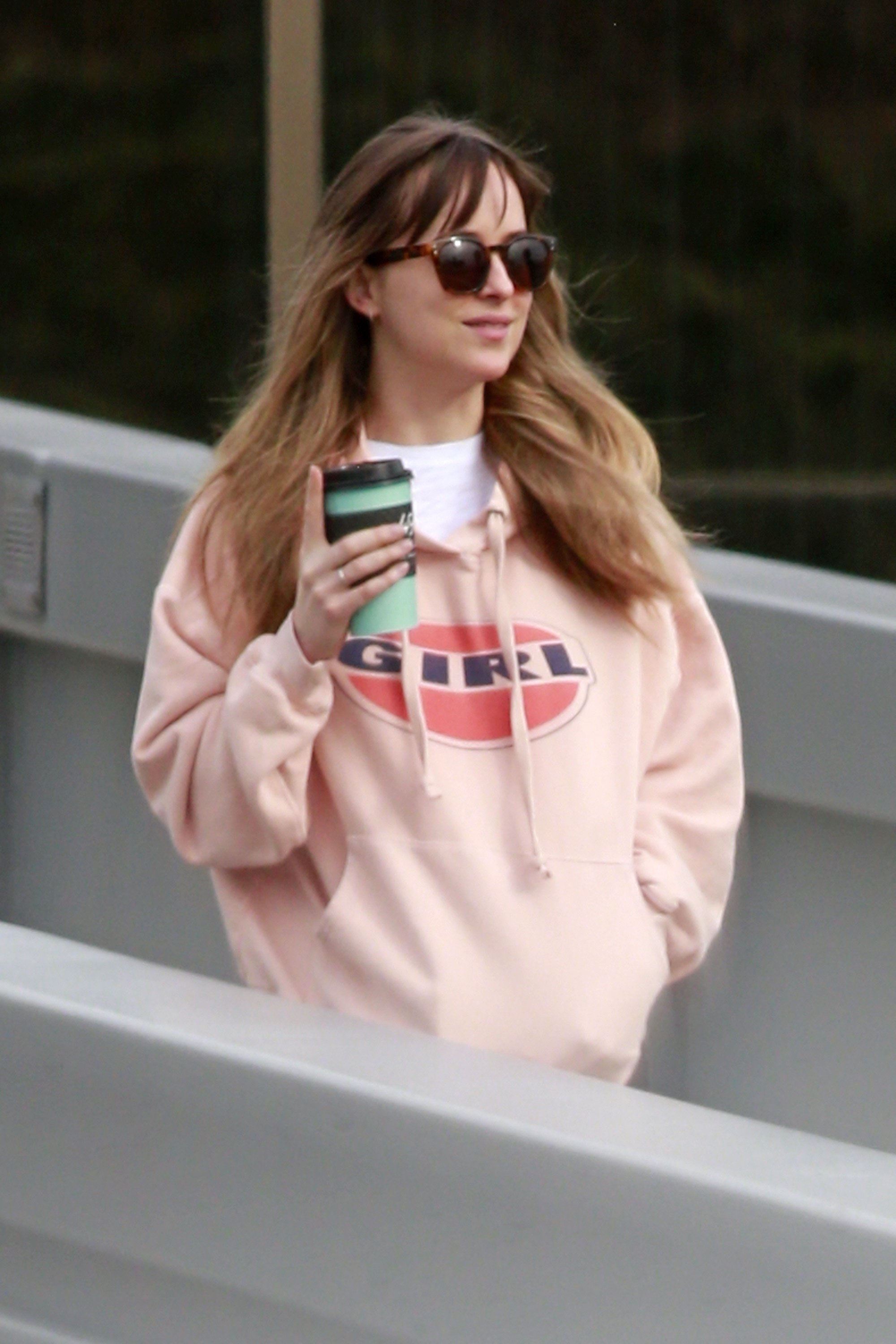 Burnaby, CANADA  - *EXCLUSIVE*  - Actress Dakota Johnson was spotted leaving the studio after a brief visit on a day off from work in Burnaby, BC, Canada. *Shot on 03/07/!8*  Pictured: Dakota Johnson  BACKGRID USA 8 MARCH 2018, Image: 365500192, License: Rights-managed, Restrictions: , Model Release: no, Credit line: Profimedia, AKM-GSI