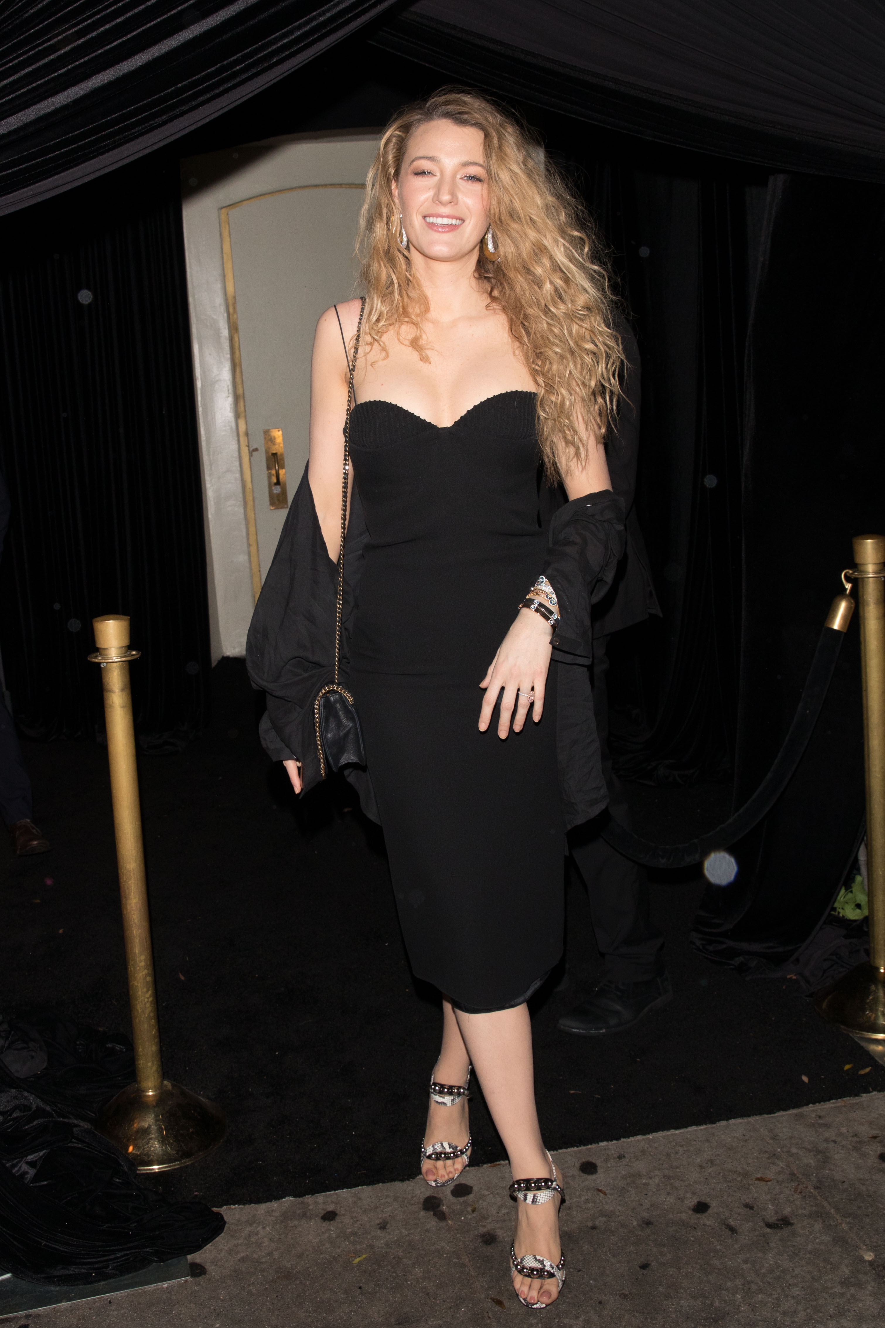 Blake Lively is seen leaving a Lorraine Schwartz event at Delilah in West Hollywood  <P> Pictured: Blake Lively  <B>Ref: SPL1671192  140318  </B><BR/> Picture by: Mr.Canon / Splash News<BR/> </P><P> <B>Splash News and Pictures</B><BR/> Los Angeles:	310-821-2666<BR/> New York:	212-619-2666<BR/> London:	870-934-2666<BR/> <span id=