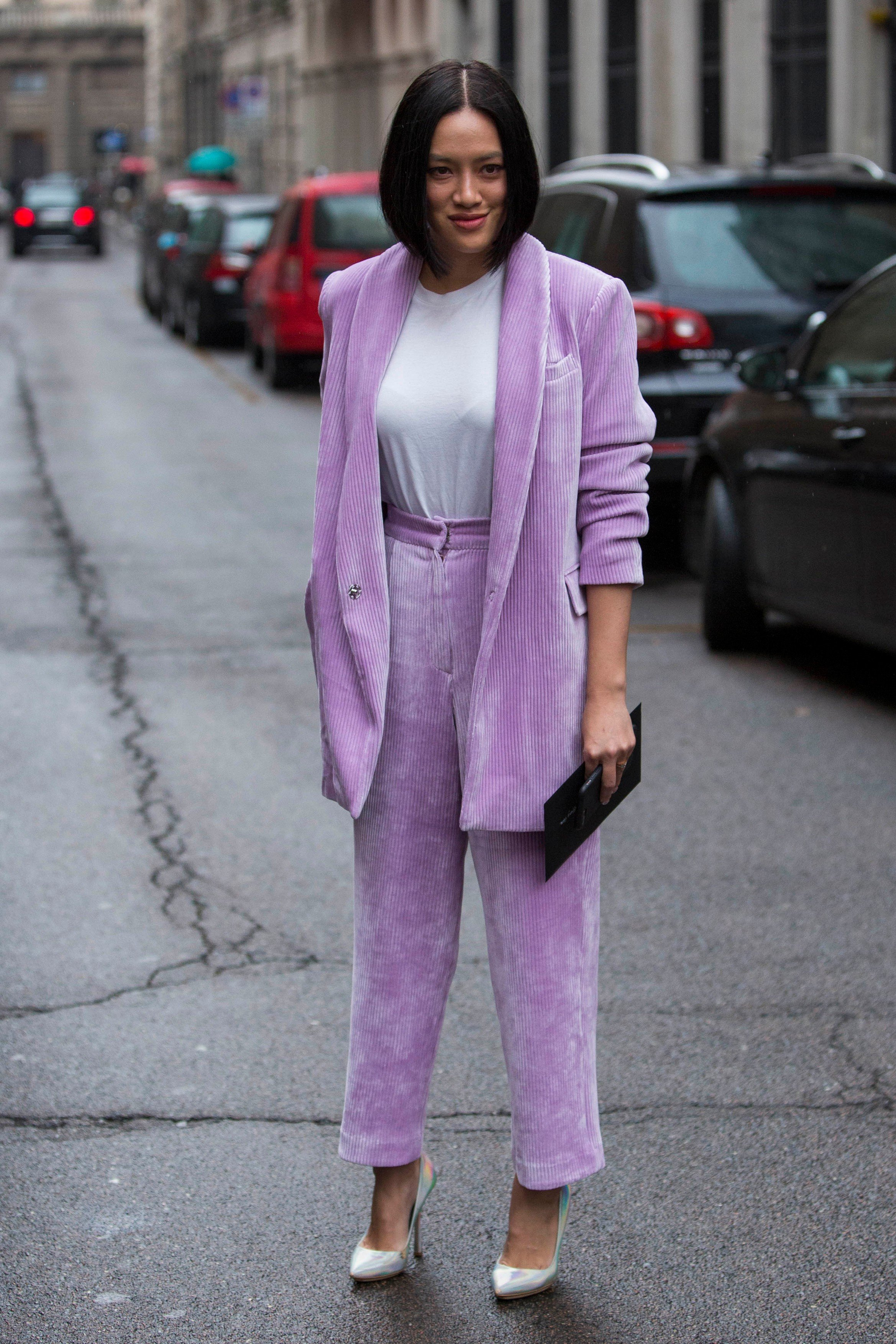 Fashion: street style at Milan Fashion Week 2018 outside of the Max Mara show in Milan on February 22, 2018. 22 Feb 2018, Image: 364096962, License: Rights-managed, Restrictions: World Rights, Model Release: no, Credit line: Profimedia, Mega Agency