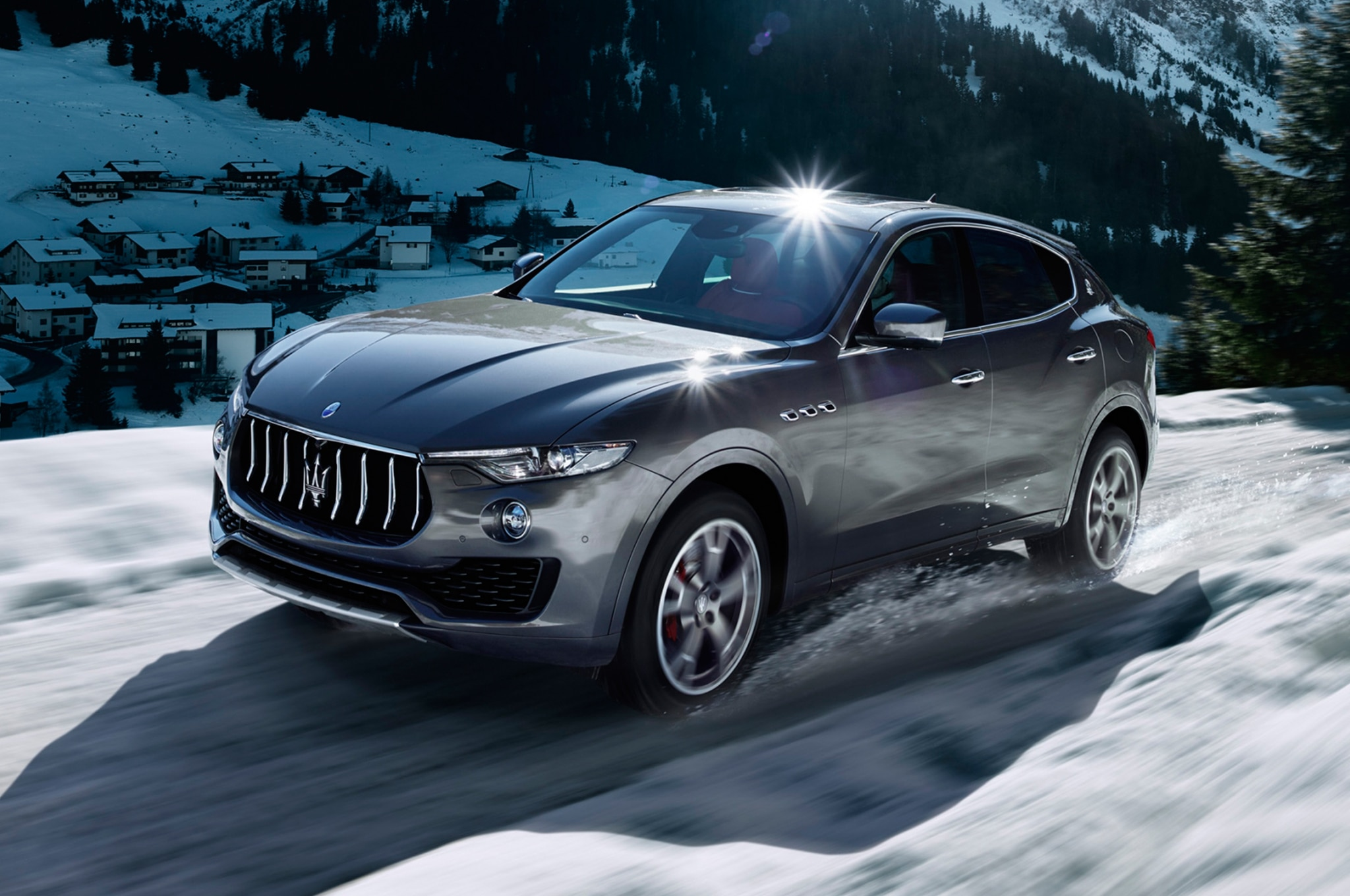 2017-Maserati-Levante-front-three-quarter-in-motion