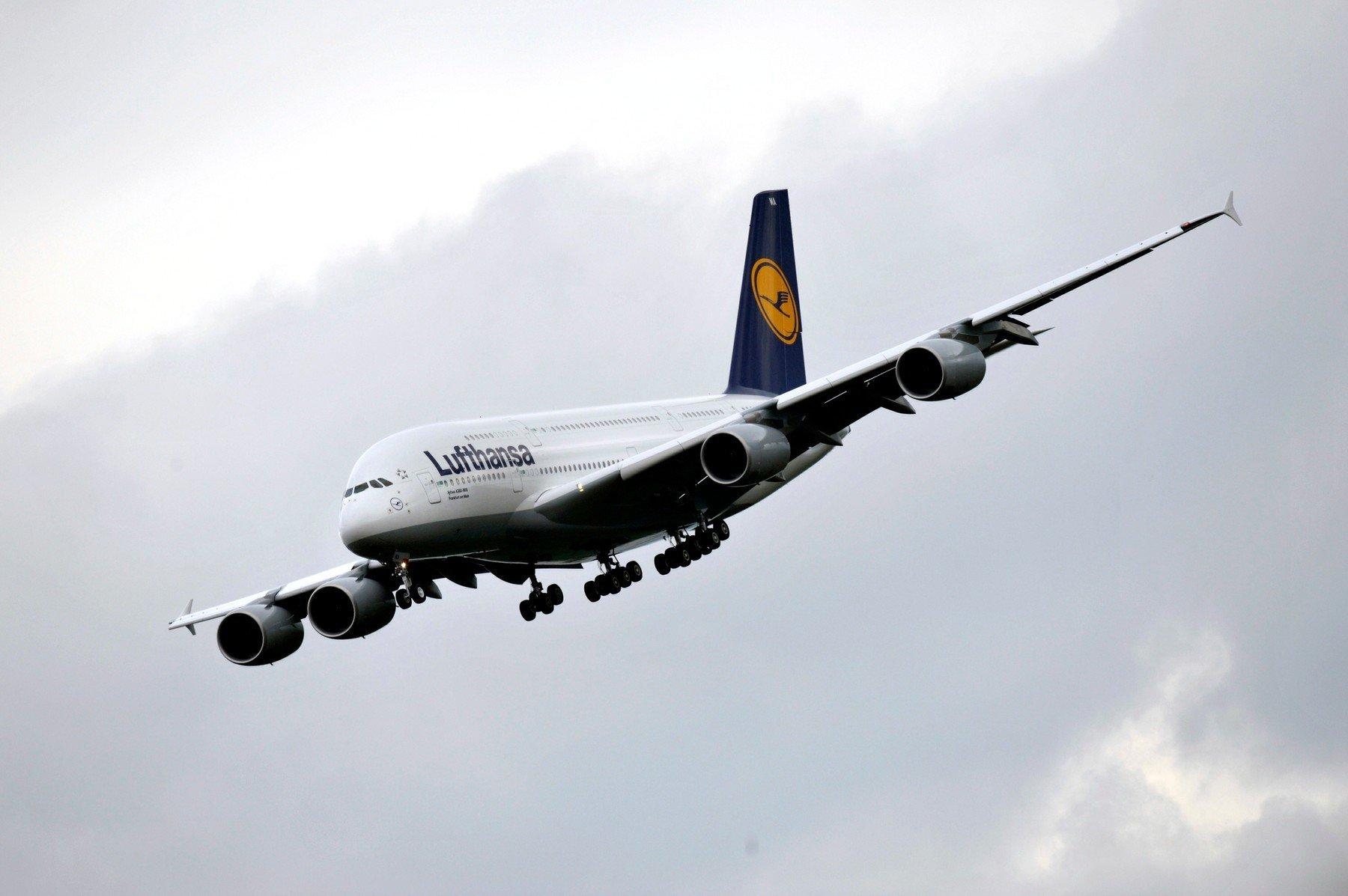 Lufthansin Airbus A380