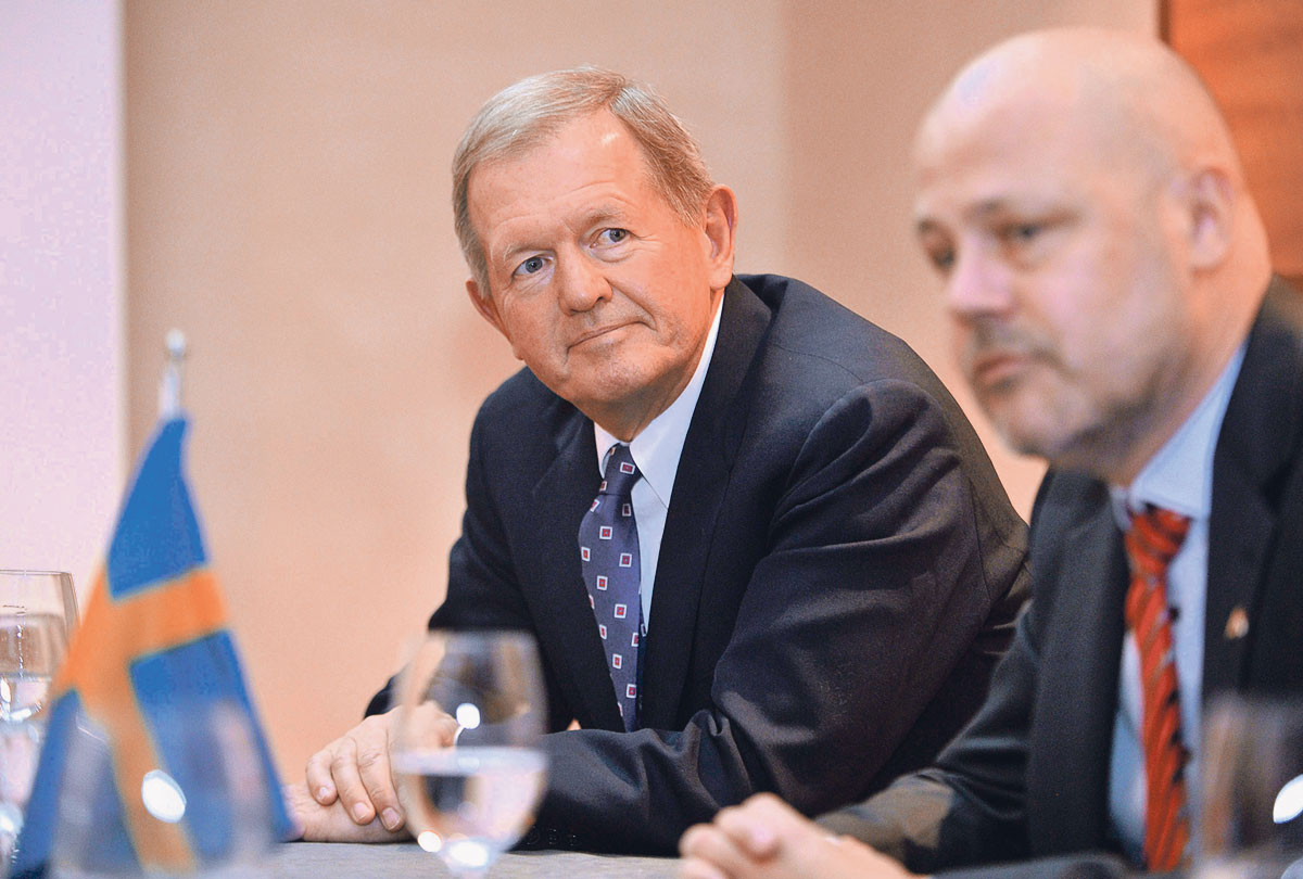 Marcus Wallenberg, predstavnik moćne švedske dinastije koja posjeduje niz velikih tvrtki, i Niklas Johansson, švedski zamjenik ministra poduzetništva