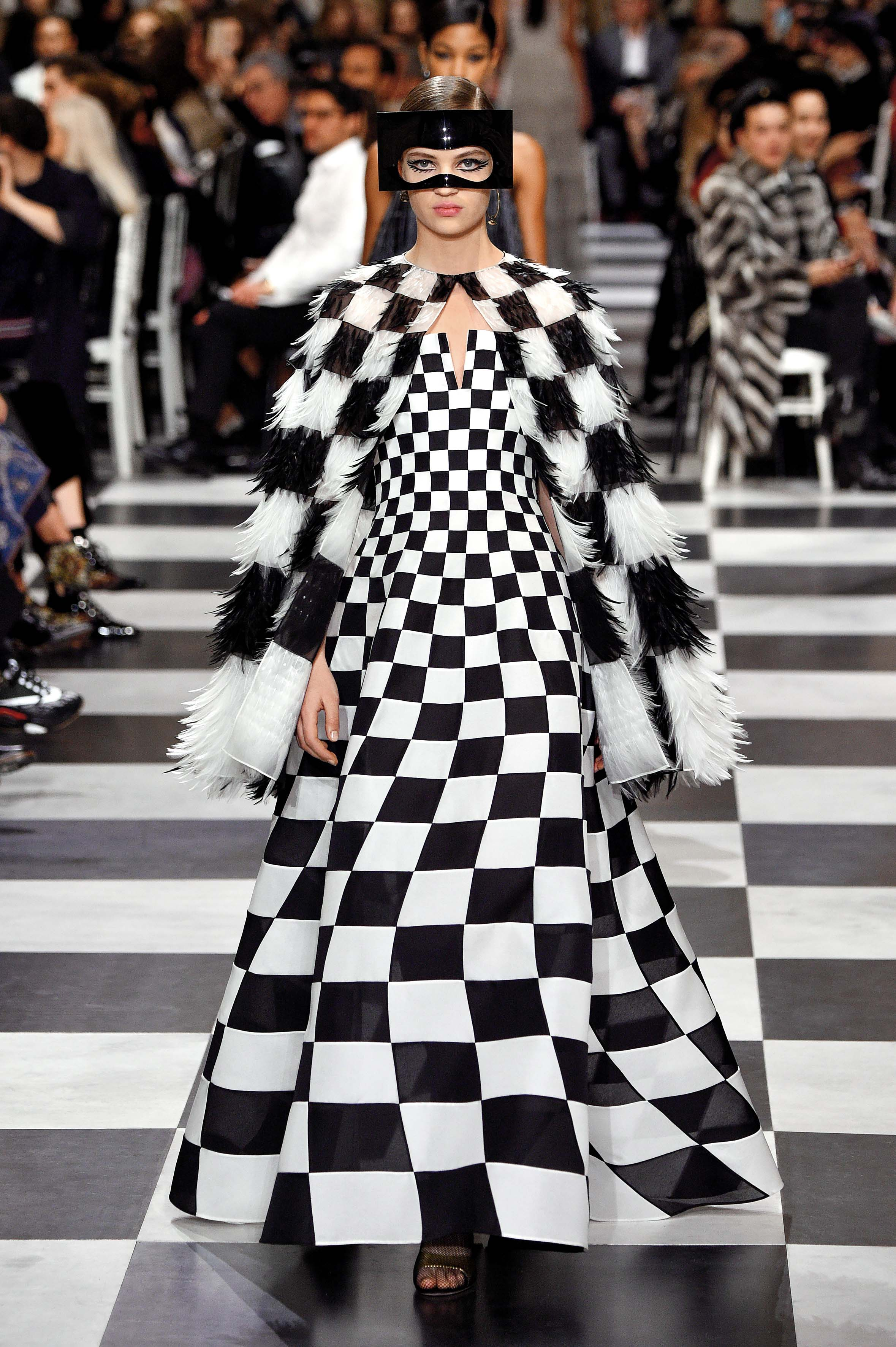 PARIS, FRANCE - JANUARY 22:  Adrienne Juliger walks the runway during the Christian Dior Spring Summer 2018 show as part of Paris Fashion Week on January 22, 2018 in Paris, France.  (Photo by Peter White/Getty Images)