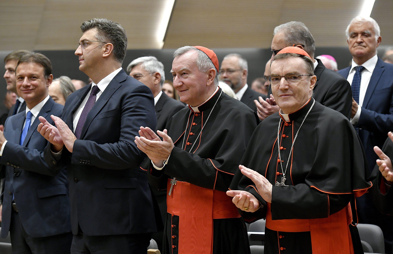 Gordan Jandroković, Andrej Plenković, Pietro Parolin, Josip Bozanić (Arhiva)