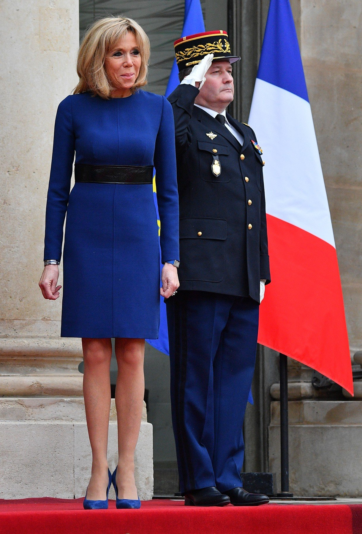 Grand Duke Henri and Duchess Maria Teresa of Luxembourg are welcomed by French President Emmanuel Macron and his wife Brigitte Macron before a meeting at the Elysee palace in Paris on March 19, 2018., Image: 366380371, License: Rights-managed, Restrictions: , Model Release: no, Credit line: Profimedia, Abaca