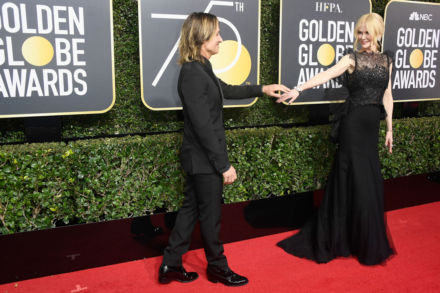 BEVERLY HILLS, CA - JANUARY 07:  Musician Keith Urban and actor Nicole Kidman attend The 75th Annual Golden Globe Awards at The Beverly Hilton Hotel on January 7, 2018 in Beverly Hills, California.  (Photo by Frazer Harrison/Getty Images)