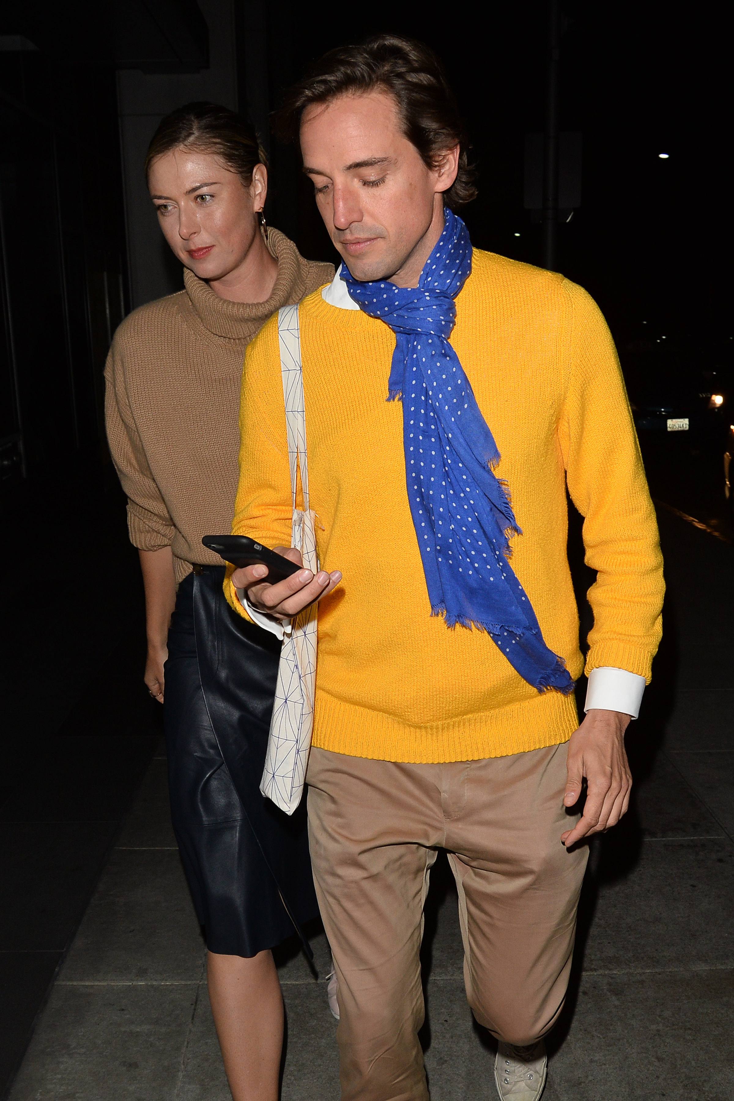 Maria Sharapova and Her Boyfriend Leave The Gagosian Gallery in Beverly Hills <P> Pictured: Maria Sharapova <B>Ref: SPL1666084  010318  </B><BR/> Picture by: All Access Photo / Splash News<BR/> </P><P> <B>Splash News and Pictures</B><BR/> Los Angeles:310-821-2666<BR/> New York:212-619-2666<BR/> London:870-934-2666<BR/> <span id=