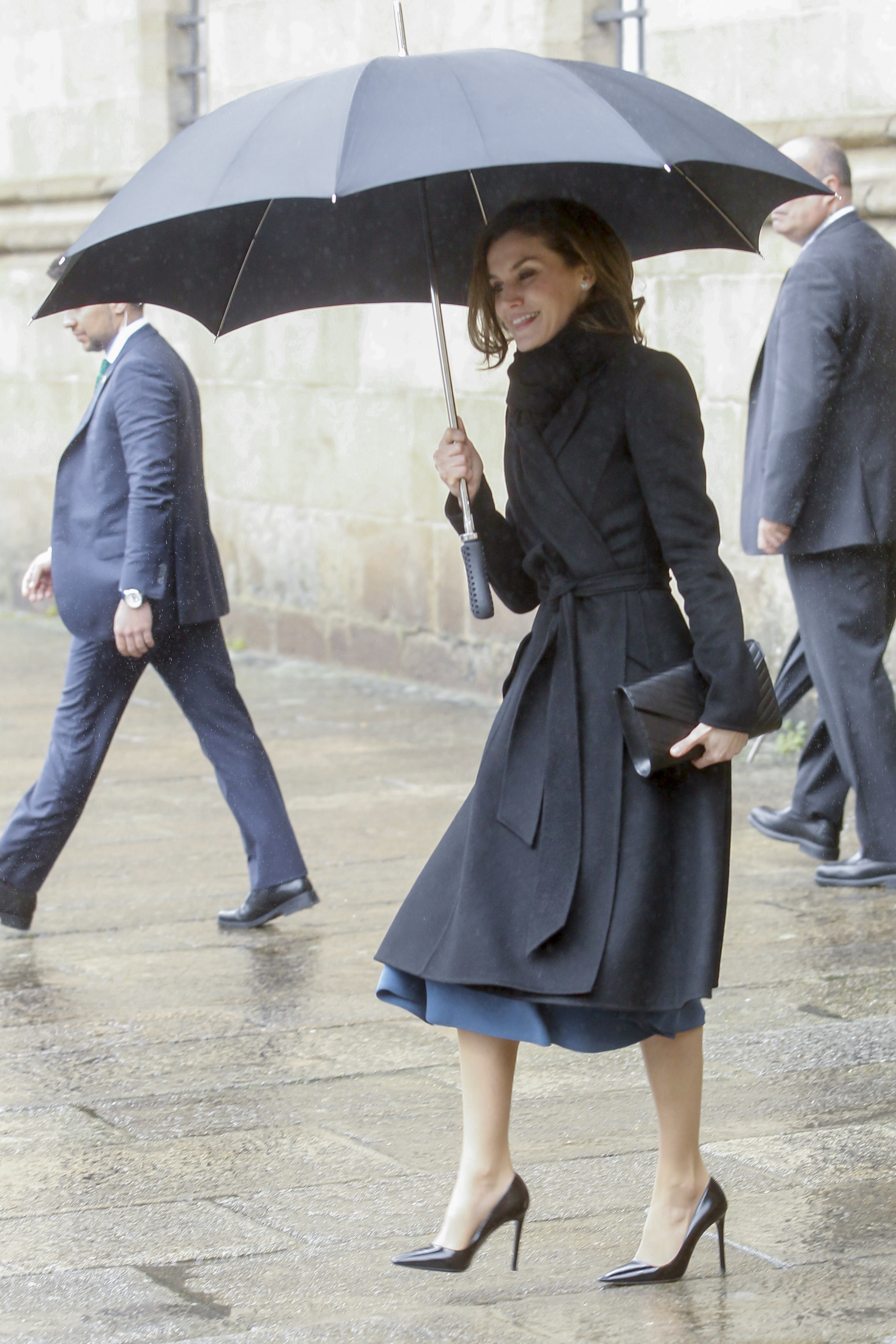 Queen Letizia attends the presentation of Digitalizadas projects at Reyes Catolicos Hotel in Santiago de Compostela, Spain <P> Pictured: Queen Letizia <B>Ref: SPL1665257  020318  </B><BR/> Picture by: Michael Murdock / Splash News<BR/> </P><P> <B>Splash News and Pictures</B><BR/> Los Angeles:310-821-2666<BR/> New York:212-619-2666<BR/> London:870-934-2666<BR/> <span id=