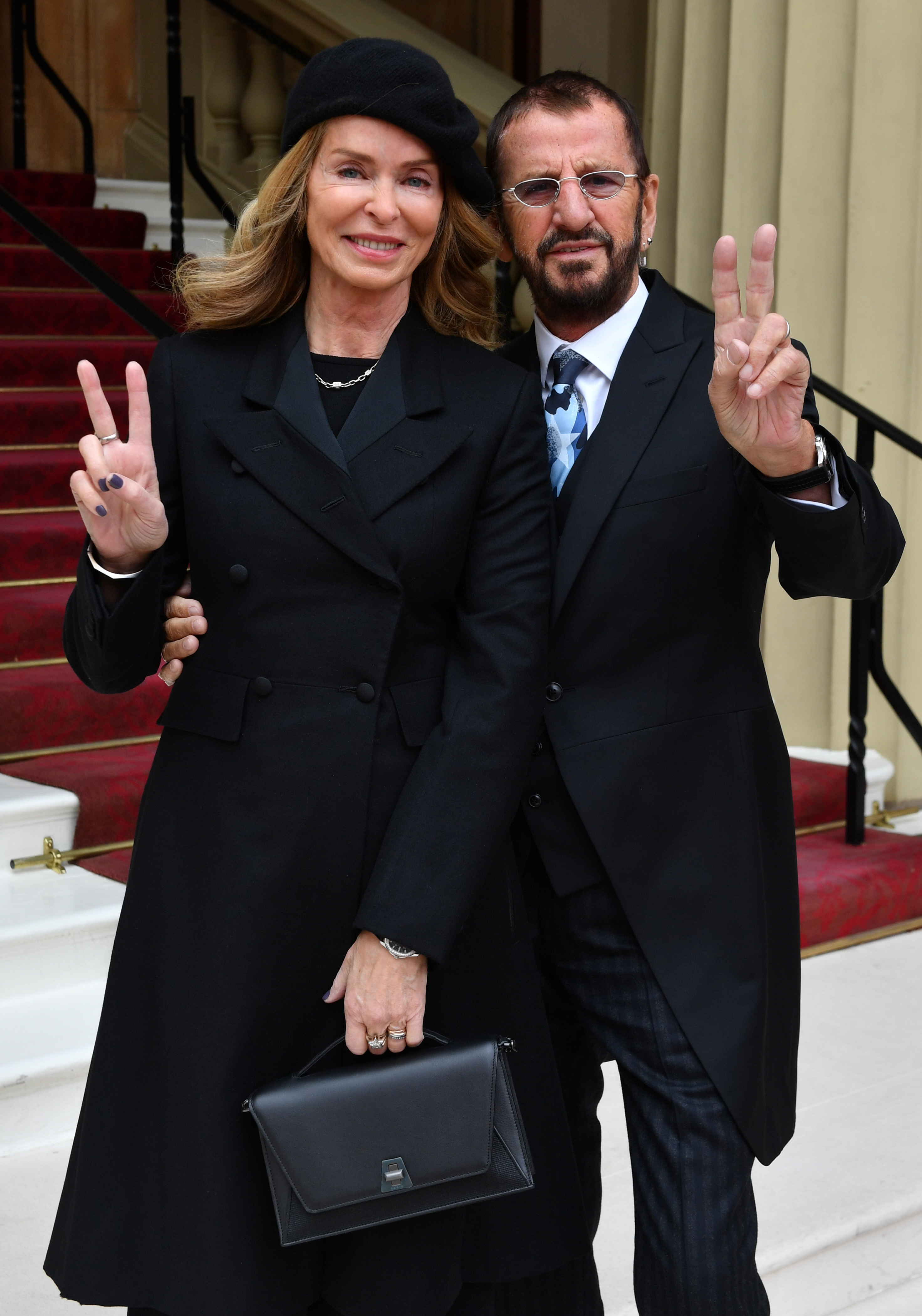 Ringo Starr, who's real name is Richard Starkey, arrives with his wife Barbara Bach to receive his Knighthood at an Investiture ceremony at Buckingham palace in London, Britain, March 20, 2018.  John Stillwell/Pool via Reuters - RC1D386D4110