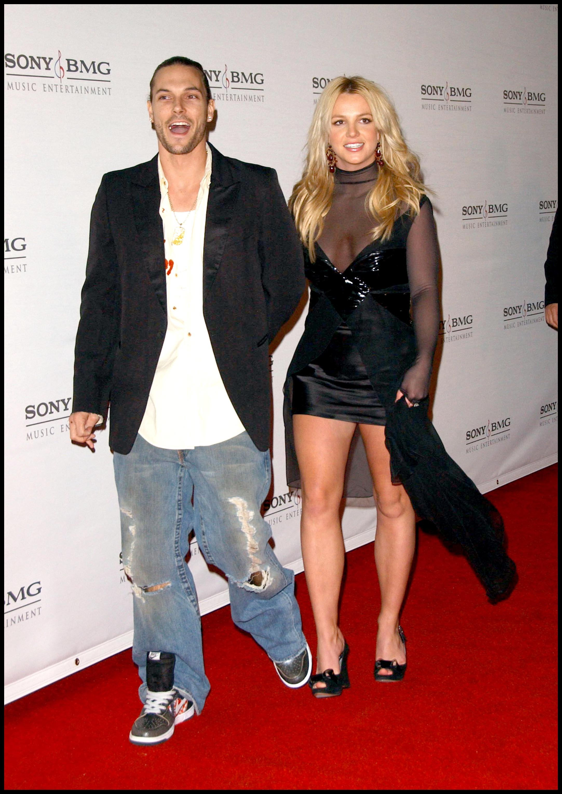 Singer BRITNEY SPEARS + husband KEVIN FEDERLINE @ the Sony/BMG post Grammy party held @ the Tropicana bar in the Rosevelt hotel., Image: 17822648, License: Rights-managed, Restrictions: , Model Release: no, Credit line: Profimedia, Visual