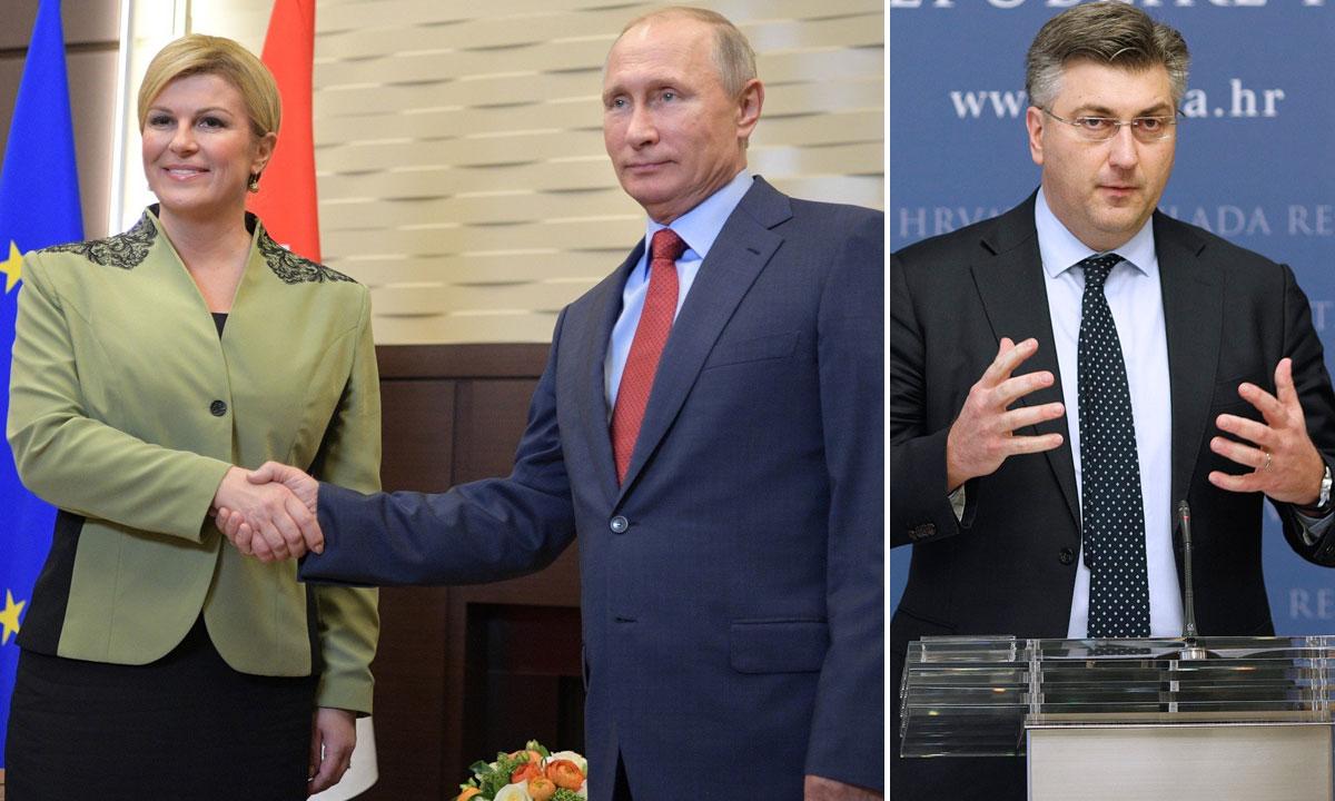 Kolinda Grabar-Kitarović, Vladimir Putin, Andrej Plenković