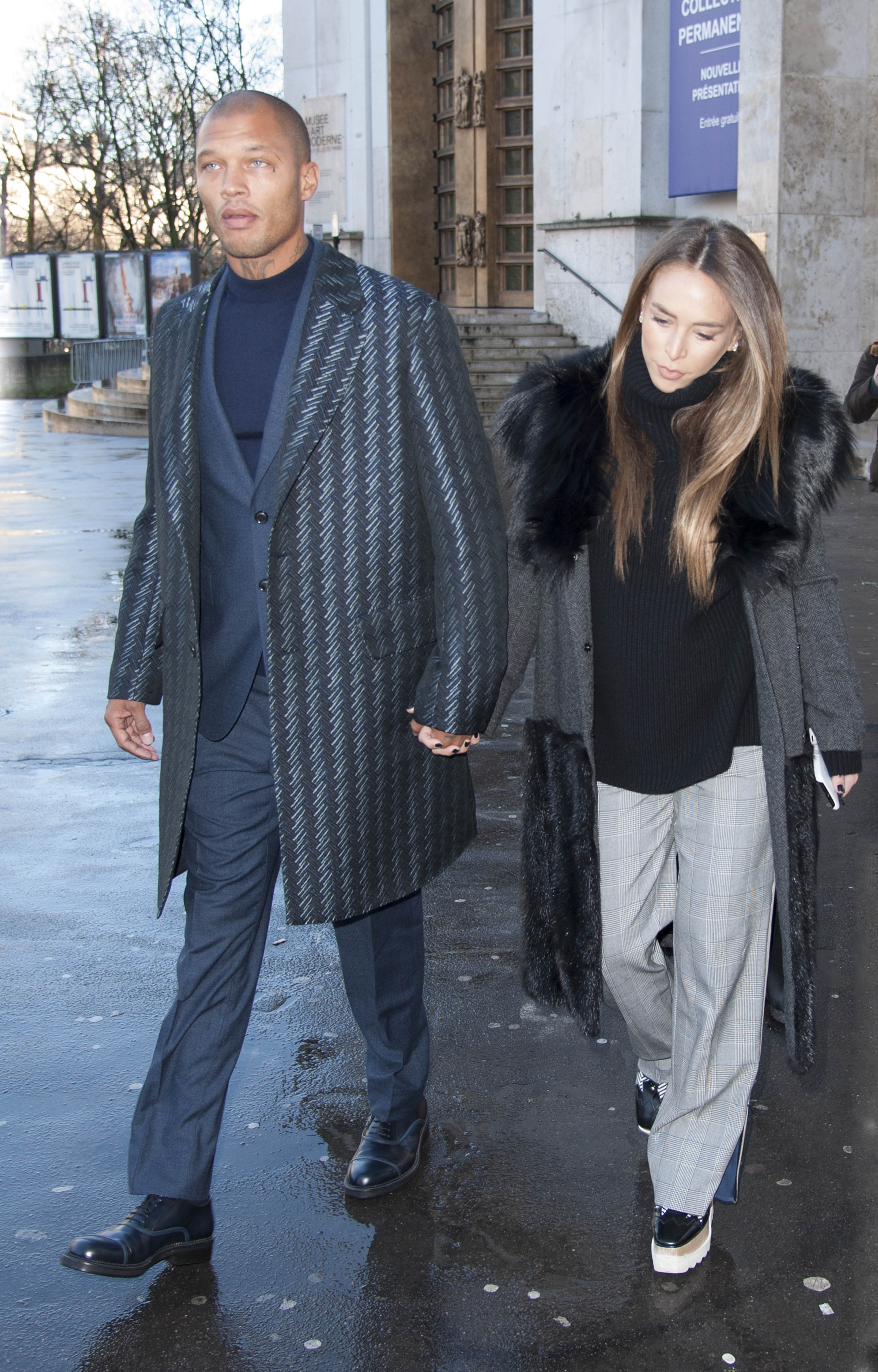 Jeremy Meeks and Chloe Green attend The Cerruti 1881 Show, Paris <P> Pictured: Jeremy Meeks and Chloe Green <B>Ref: SPL1648096  230118  </B><BR/> Picture by: Headlinephoto / Splash News<BR/> </P><P> <B>Splash News and Pictures</B><BR/> Los Angeles:	310-821-2666<BR/> New York:	212-619-2666<BR/> London:	870-934-2666<BR/> <span id=