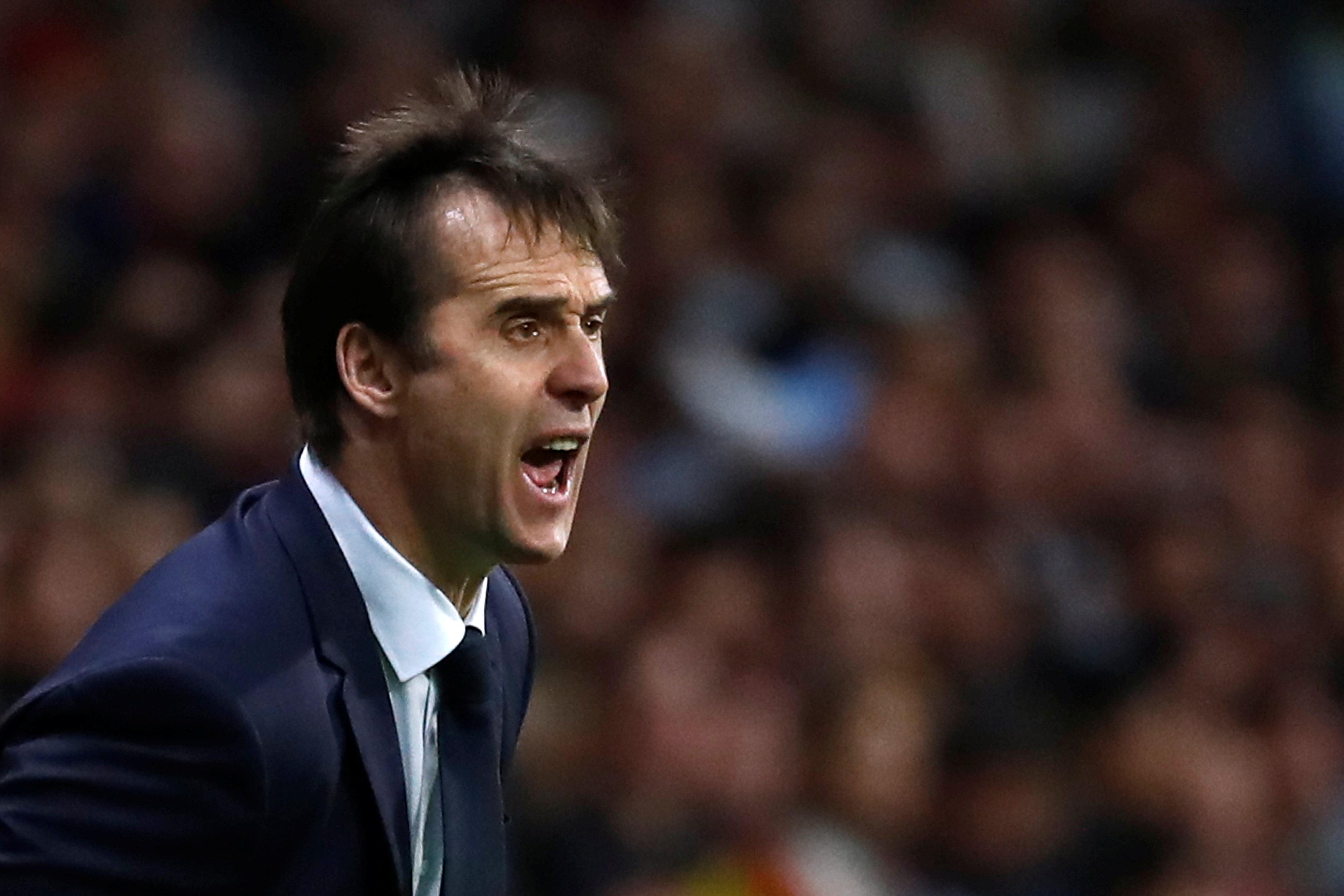 Soccer Football - International Friendly - Spain vs Argentina - Wanda Metropolitano, Madrid, Spain - March 27, 2018   Spain coach Julen Lopetegui    REUTERS/Juan Medina