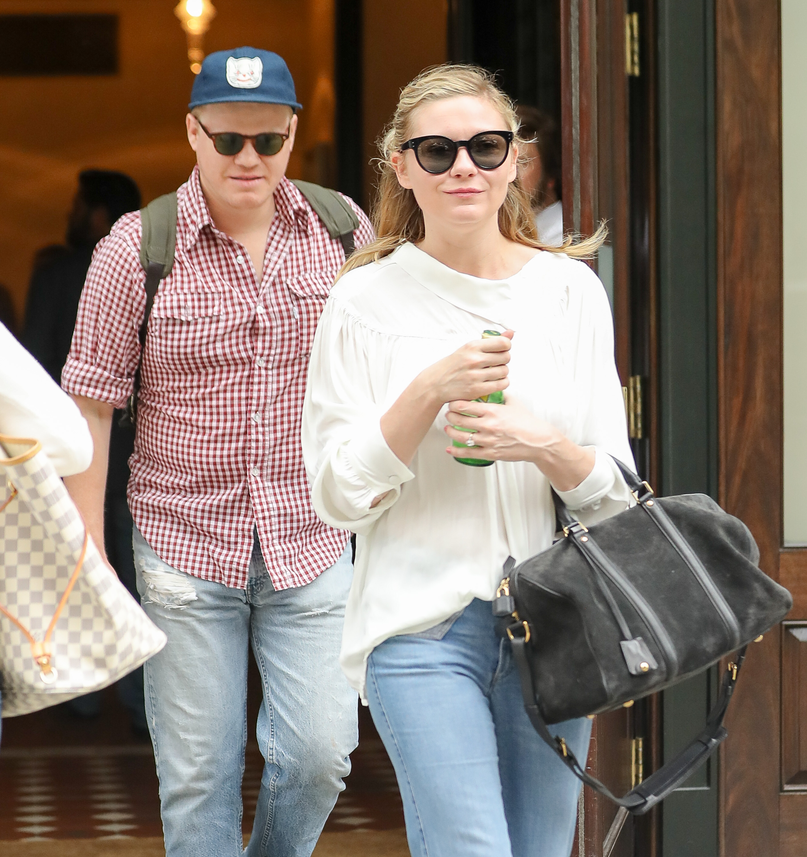 Kirsten Dunst and fiance Jesse Plemons are spotted leaving their hotel in New York City, New York. <P> Pictured: Kirsten Dunst and Jesse Plemons <B>Ref: SPL1525762  230617  </B><BR/> Picture by: Felipe Ramales / Splash News<BR/> </P><P> <B>Splash News and Pictures</B><BR/> Los Angeles:	310-821-2666<BR/> New York:	212-619-2666<BR/> London:	870-934-2666<BR/> <span id=