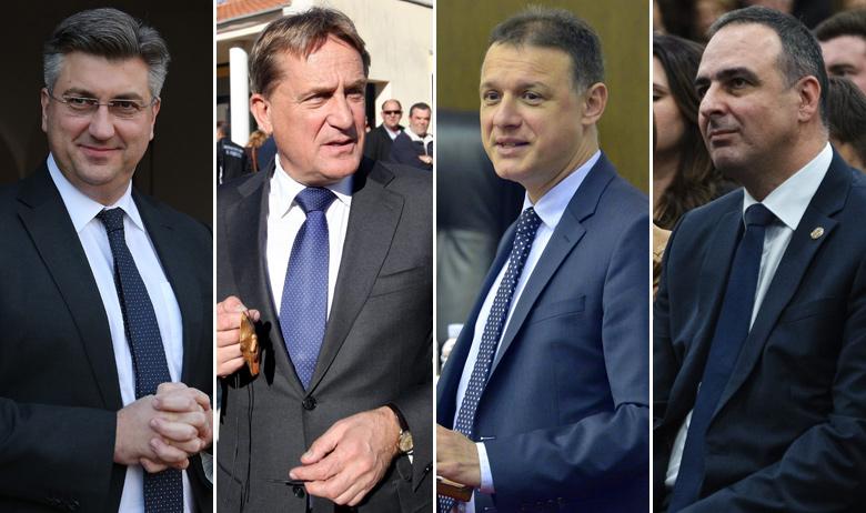Andrej Plenković, Božidar Kalmeta, Gordan Jandroković, Mario Kapulica