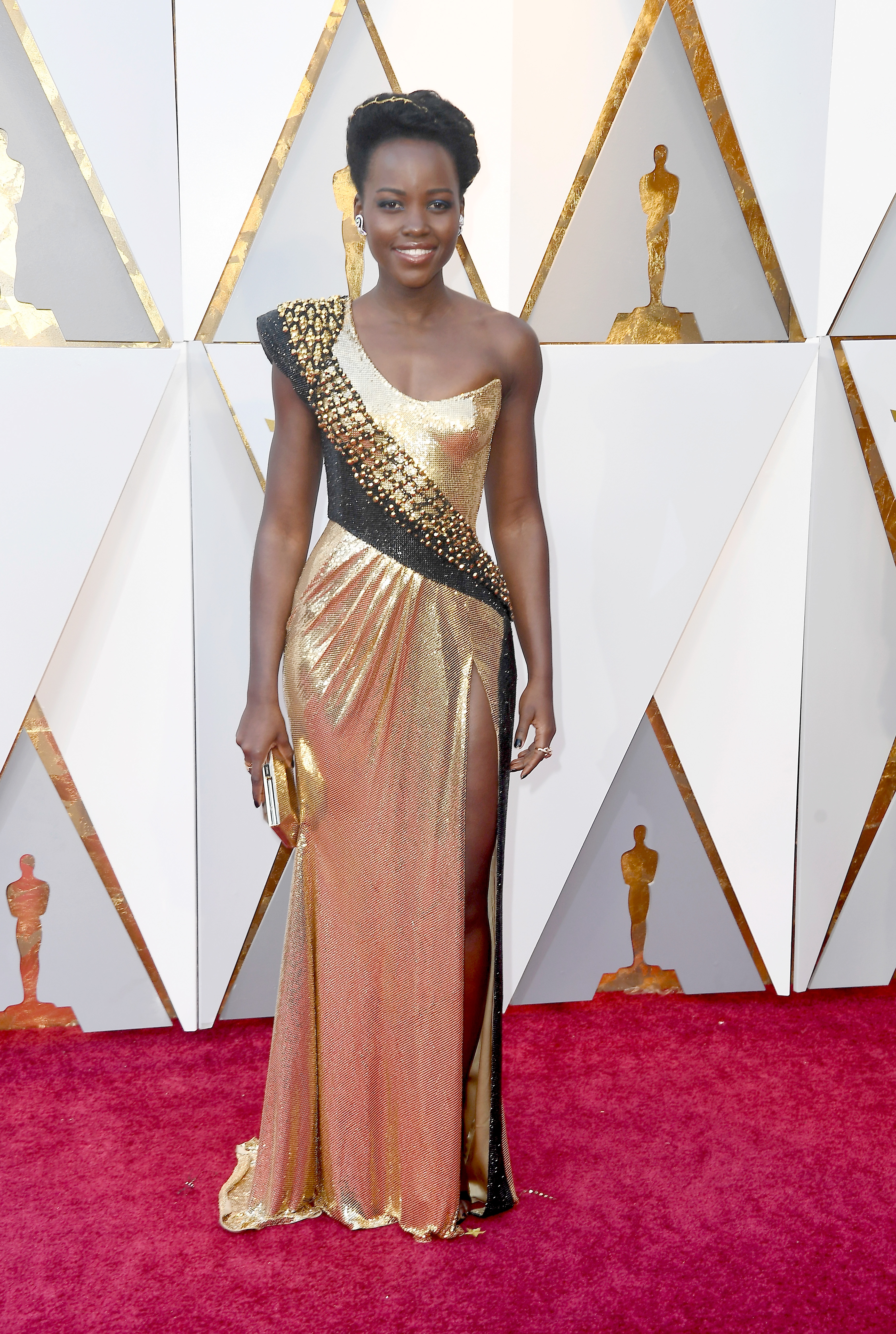 HOLLYWOOD, CA - MARCH 04: Lupita Nyong'o attends the 90th Annual Academy Awards at Hollywood & Highland Center on March 4, 2018 in Hollywood, California.  (Photo by Frazer Harrison/Getty Images)