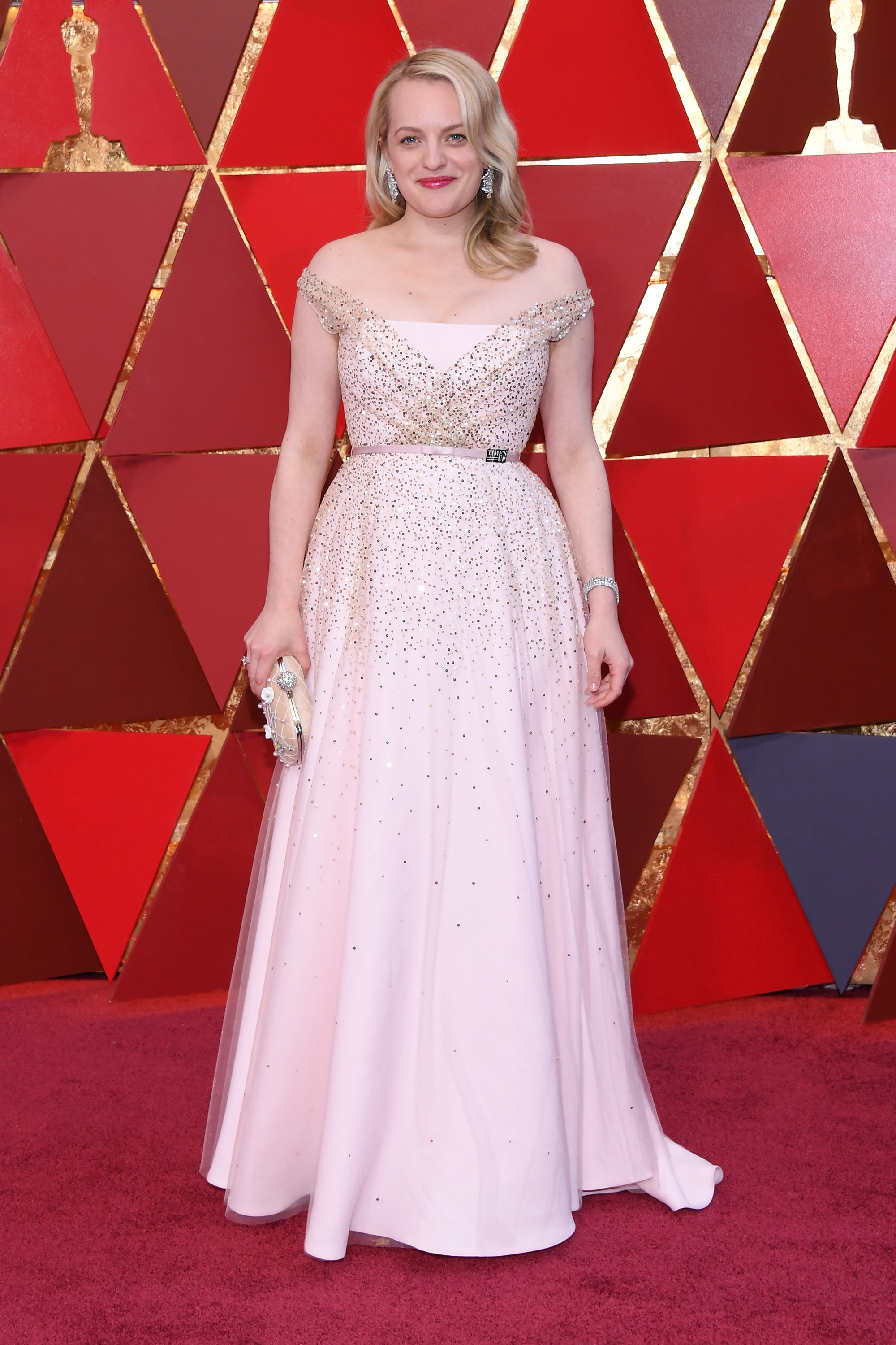 HOLLYWOOD, CA - MARCH 04:  Elizabeth Moss attends the 90th Annual Academy Awards at Hollywood & Highland Center on March 4, 2018 in Hollywood, California.  (Photo by Kevork Djansezian/Getty Images)