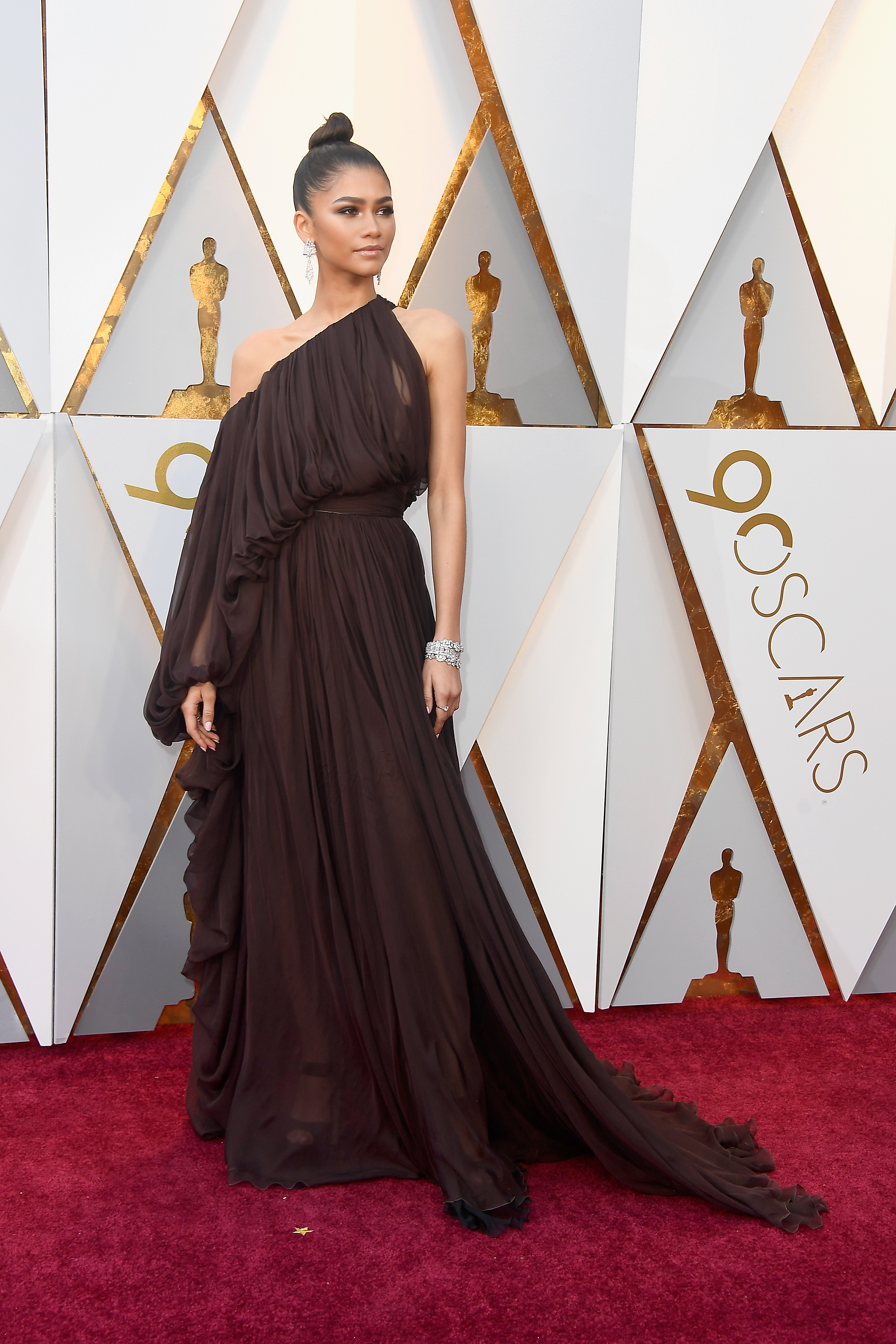 HOLLYWOOD, CA - MARCH 04:  Zendaya attends the 90th Annual Academy Awards at Hollywood & Highland Center on March 4, 2018 in Hollywood, California.  (Photo by Frazer Harrison/Getty Images)