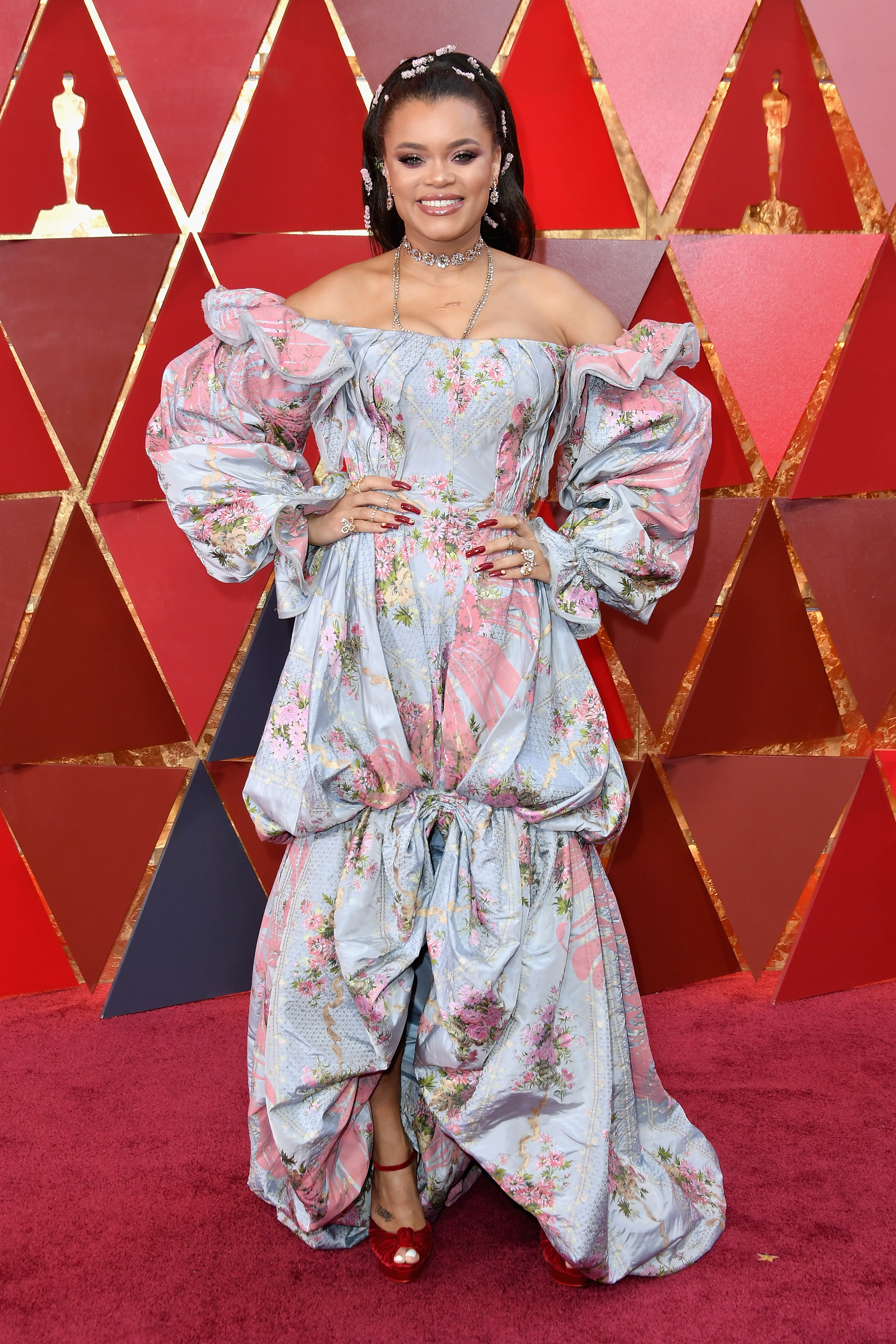 HOLLYWOOD, CA - MARCH 04:  Andra Day attends the 90th Annual Academy Awards at Hollywood & Highland Center on March 4, 2018 in Hollywood, California.  (Photo by Neilson Barnard/Getty Images)