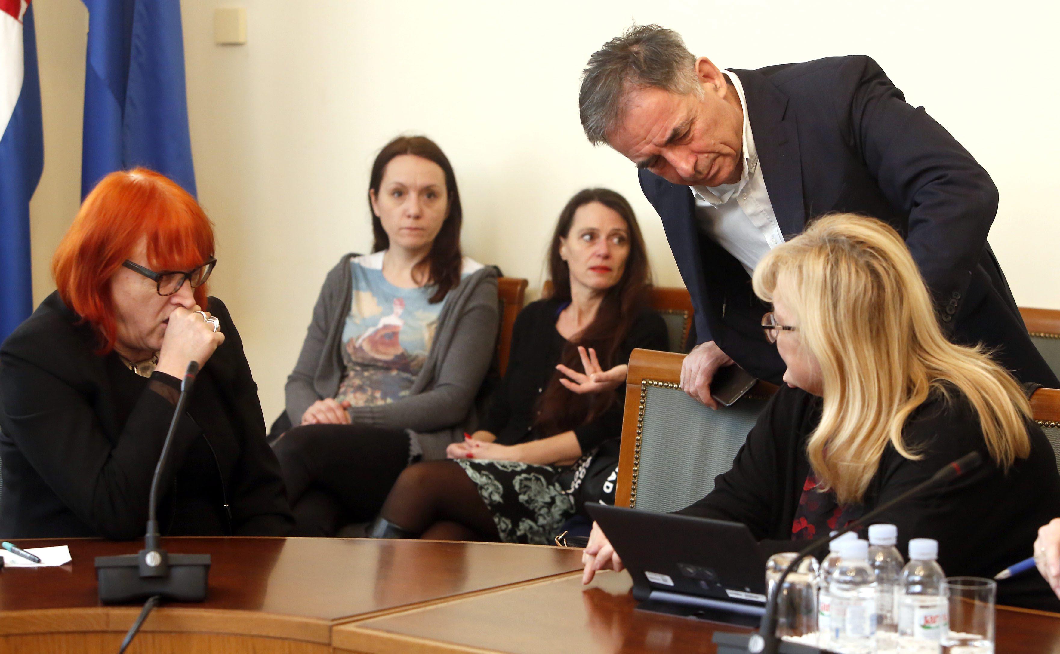 Rada Borić, Ines Strenja Linić i Milorad Pupovac na sjednici Odbora za ljudska prava