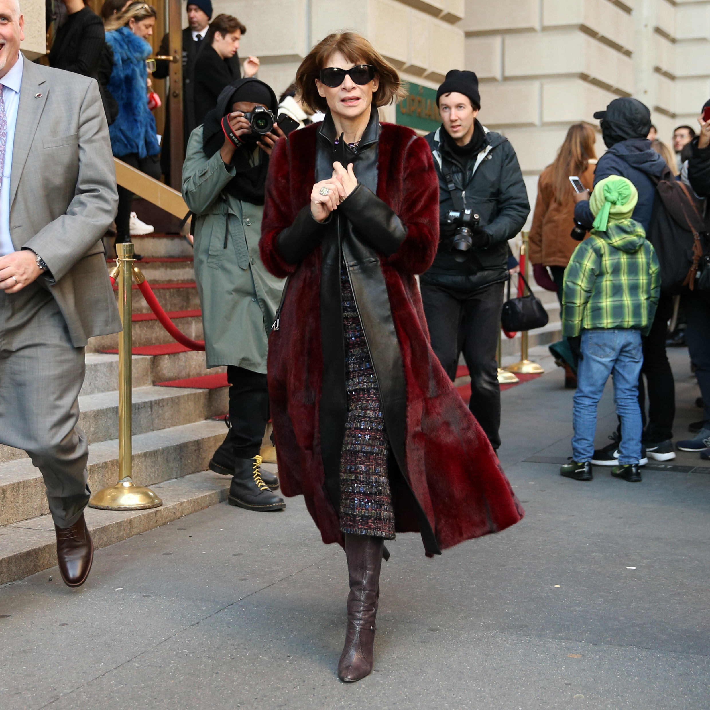 Vogue editor Anna Wintour attends Oscar de la Renta AW18 at Cunard Building during New York Fashion Week in New York City, New York on February 12, 2018. <P> Pictured: Anna Wintour <B>Ref: SPL1658630  120218  </B><BR/> Picture by: Christopher Peterson/Splash News<BR/> </P><P> <B>Splash News and Pictures</B><BR/> Los Angeles:310-821-2666<BR/> New York:212-619-2666<BR/> London:870-934-2666<BR/> <span id=