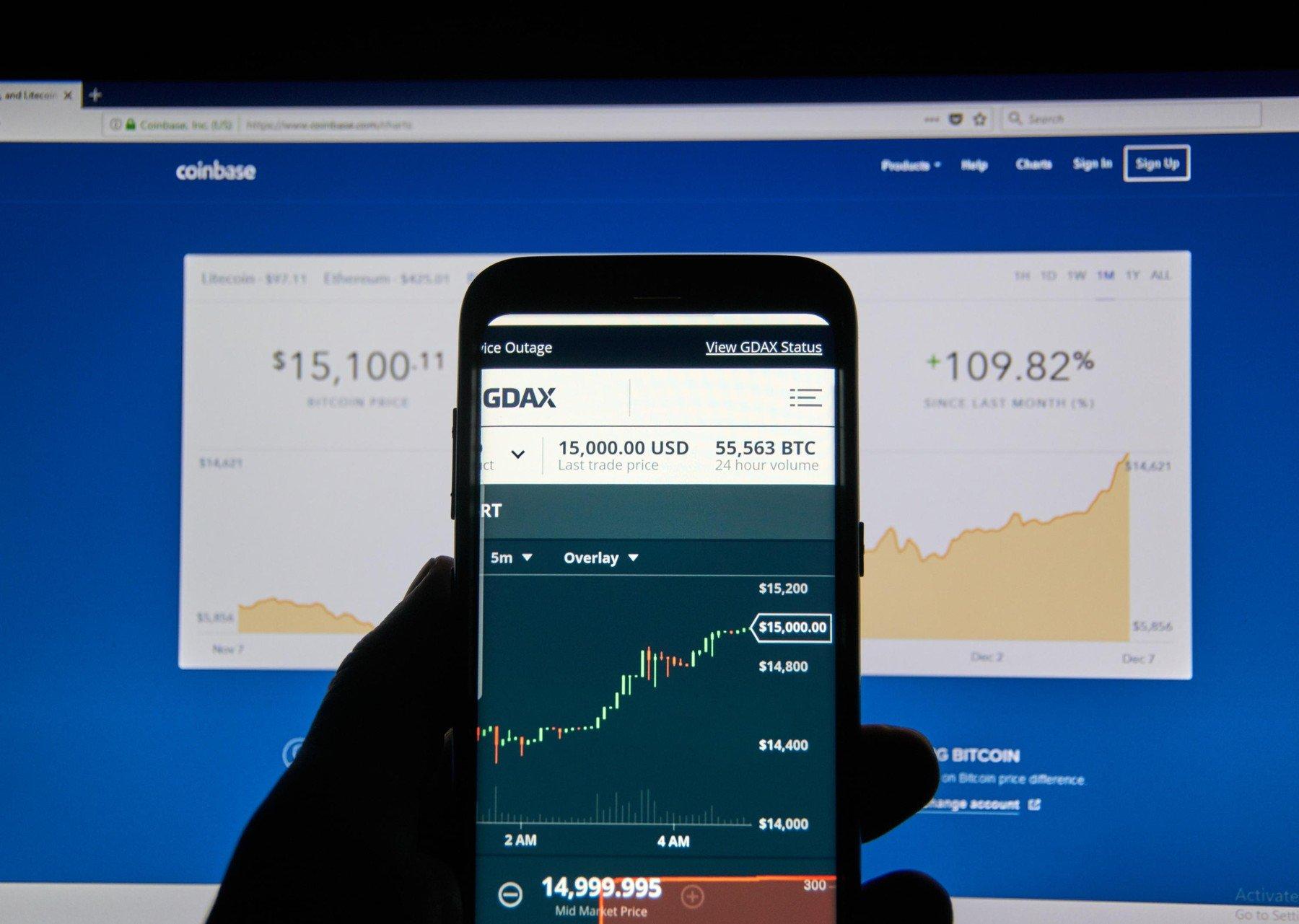 Coinbase aplikacija za Android