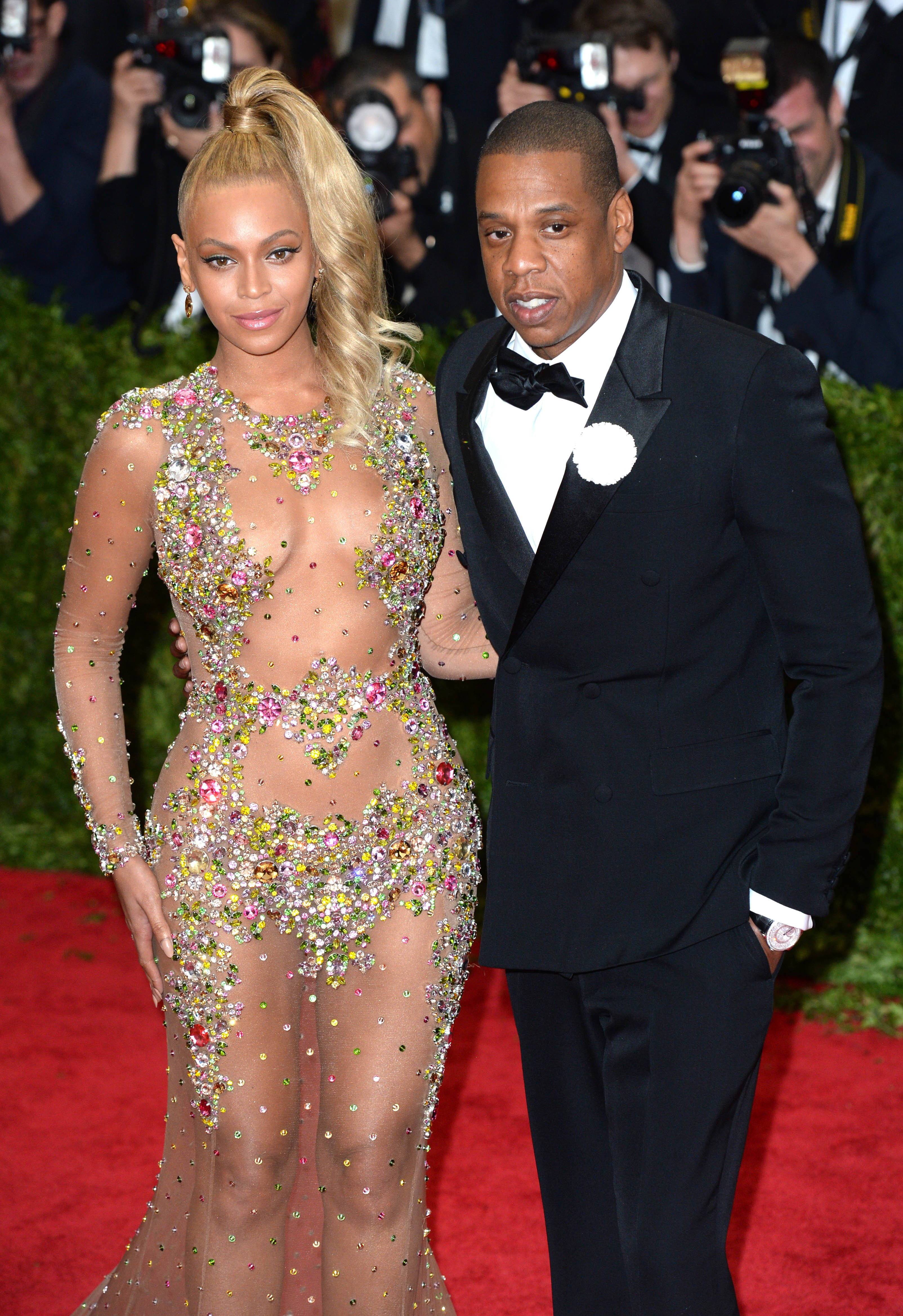 Beyonce and Jay-Z attending The Metropolitan Museum of Art Met Gala, in New York City, USA.  (Mandatory Credit: Doug Peters/EMPICS Entertainment), Image: 242273826, License: Rights-managed, Restrictions: NONE, Model Release: no, Credit line: Profimedia, Press Association